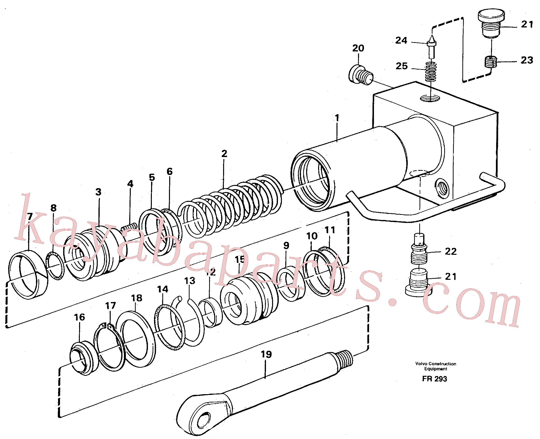 VOE14257591 for Volvo Hydraulic cylinder, quick attachment(FR293 assembly)