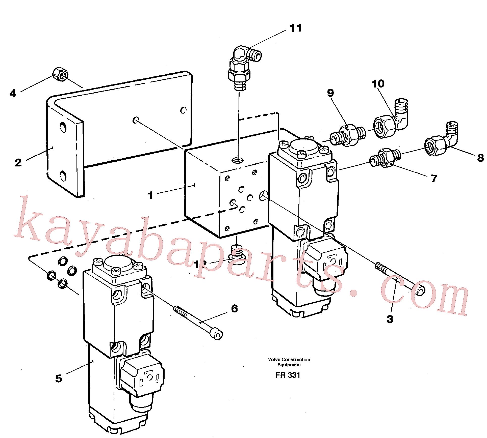 VOE14259603 for Volvo Electric valve block(FR331 assembly)