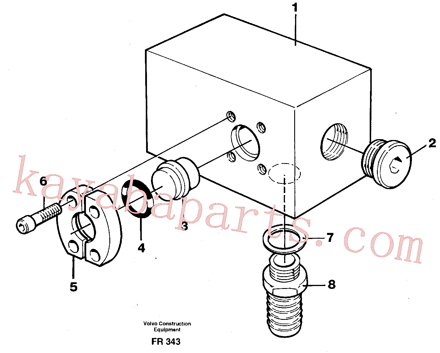 VOE14340499 for Volvo Adapter(FR343 assembly)