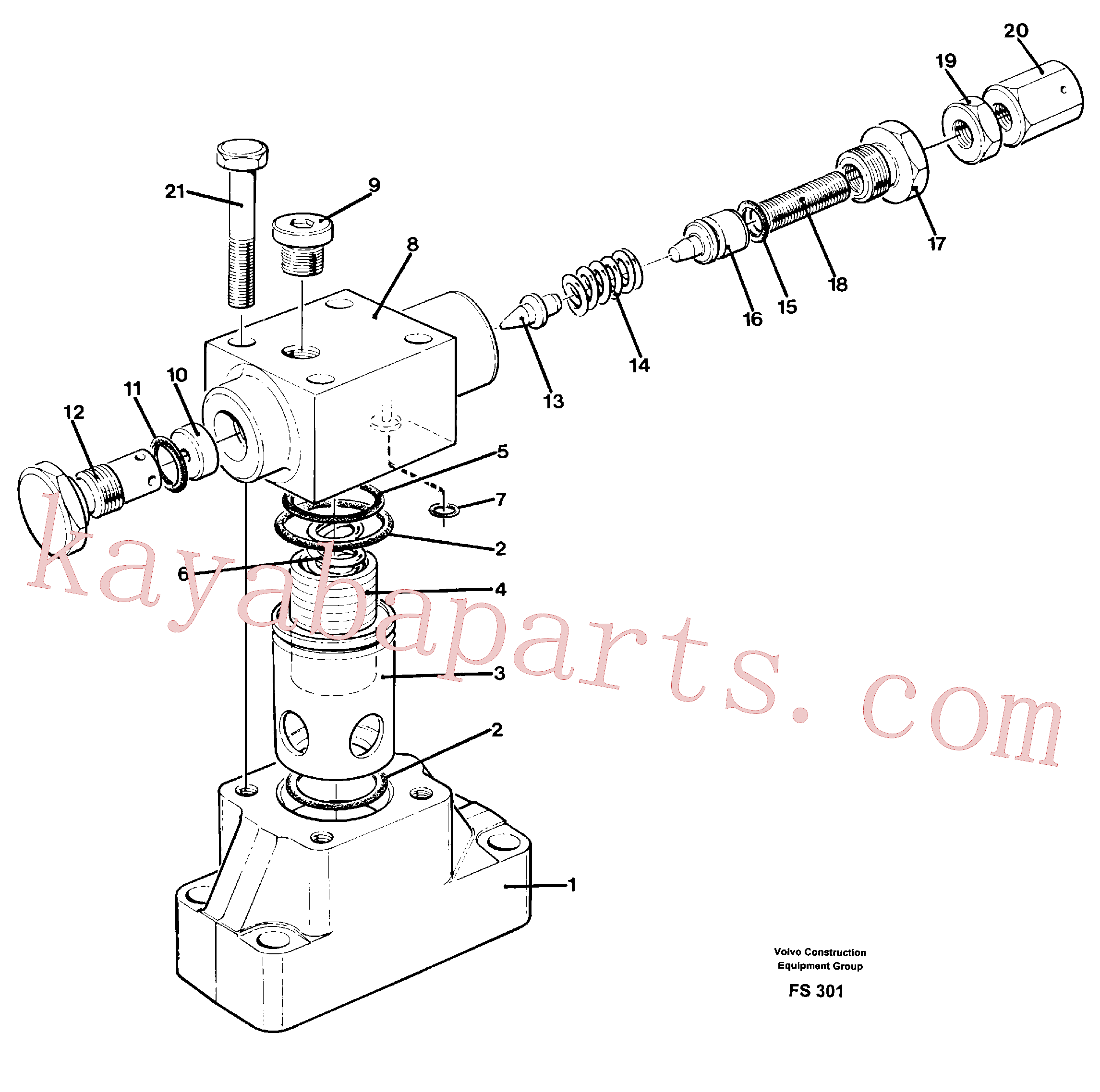 VOE14239781 for Volvo Pressure limiting valve(FS301 assembly)