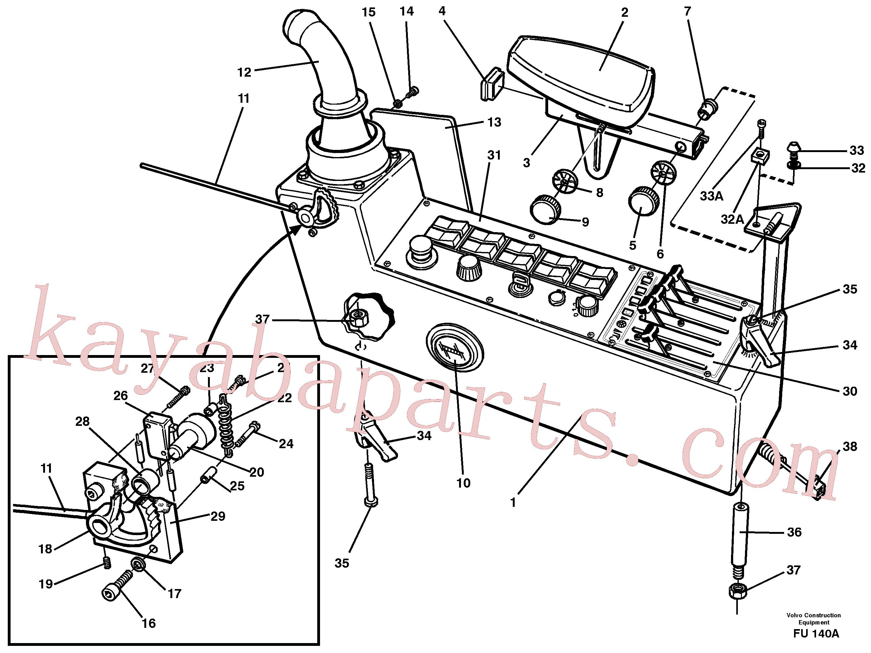 VOE14572485 for Volvo Side panel, left(FU140A assembly)