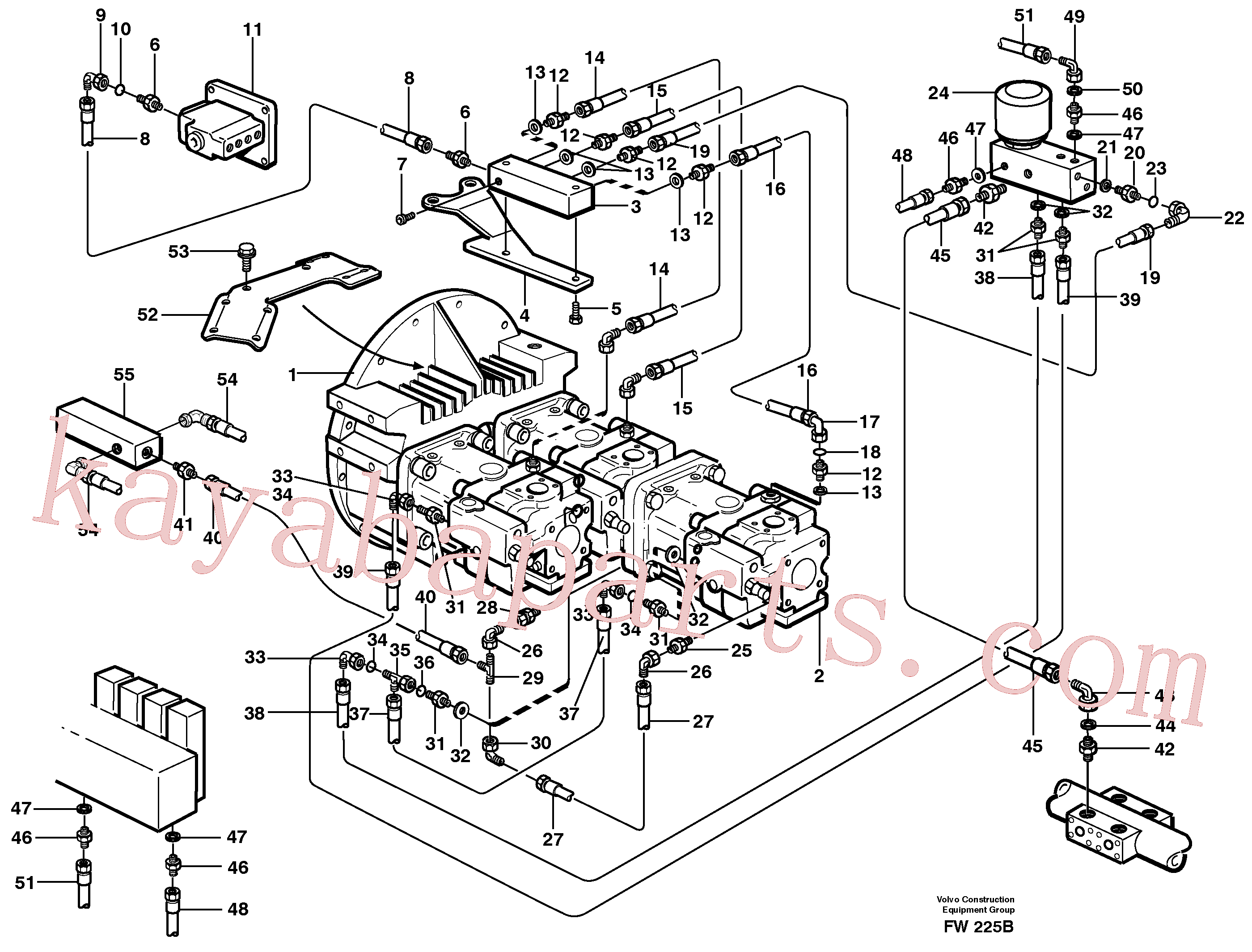 VOE14344109 for Volvo Pump control(FW225B assembly)