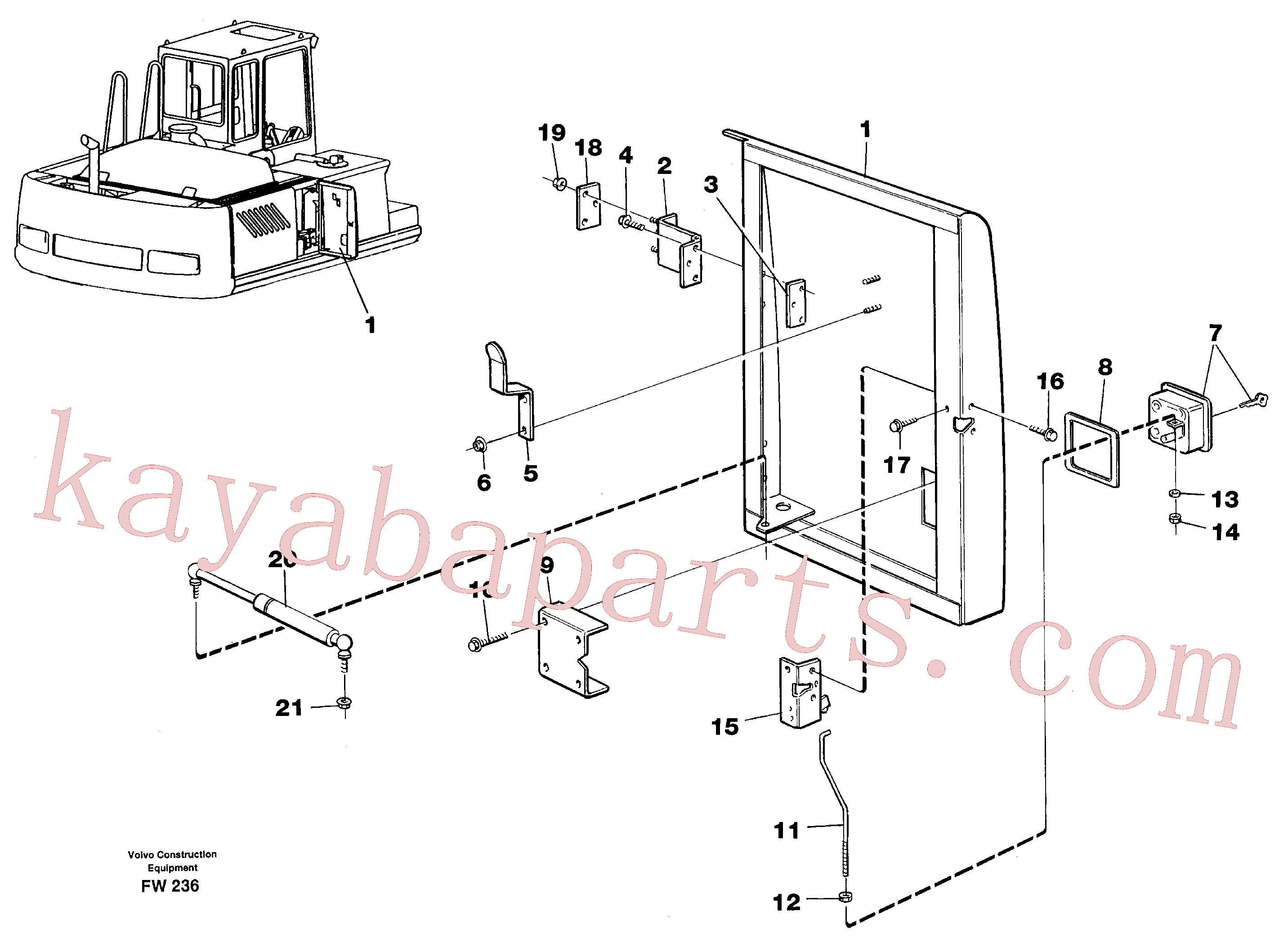 VOE14572489 for Volvo Door, centre, right(FW236 assembly)