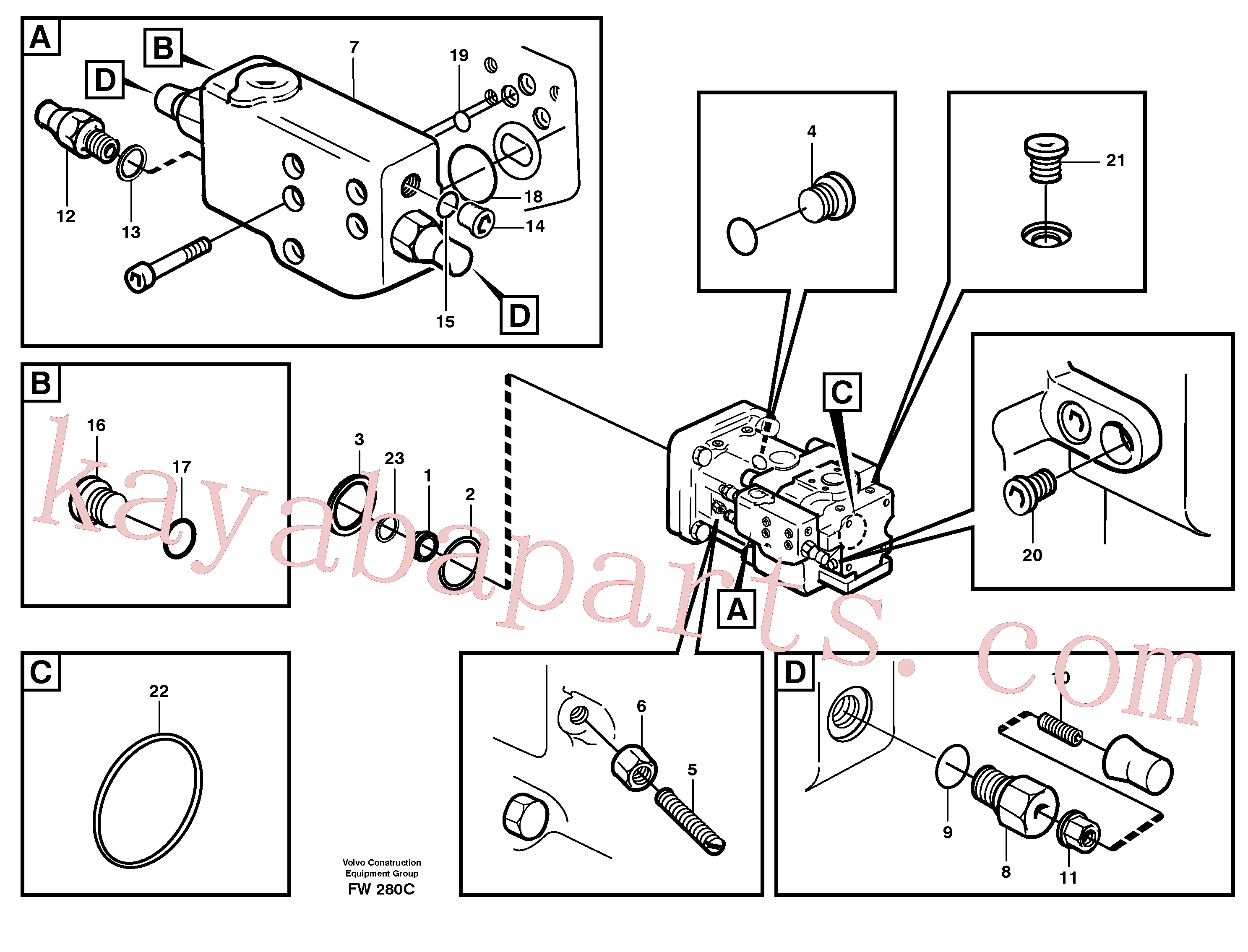VOE11702662 for Volvo Hydraulic pump(FW280C assembly)