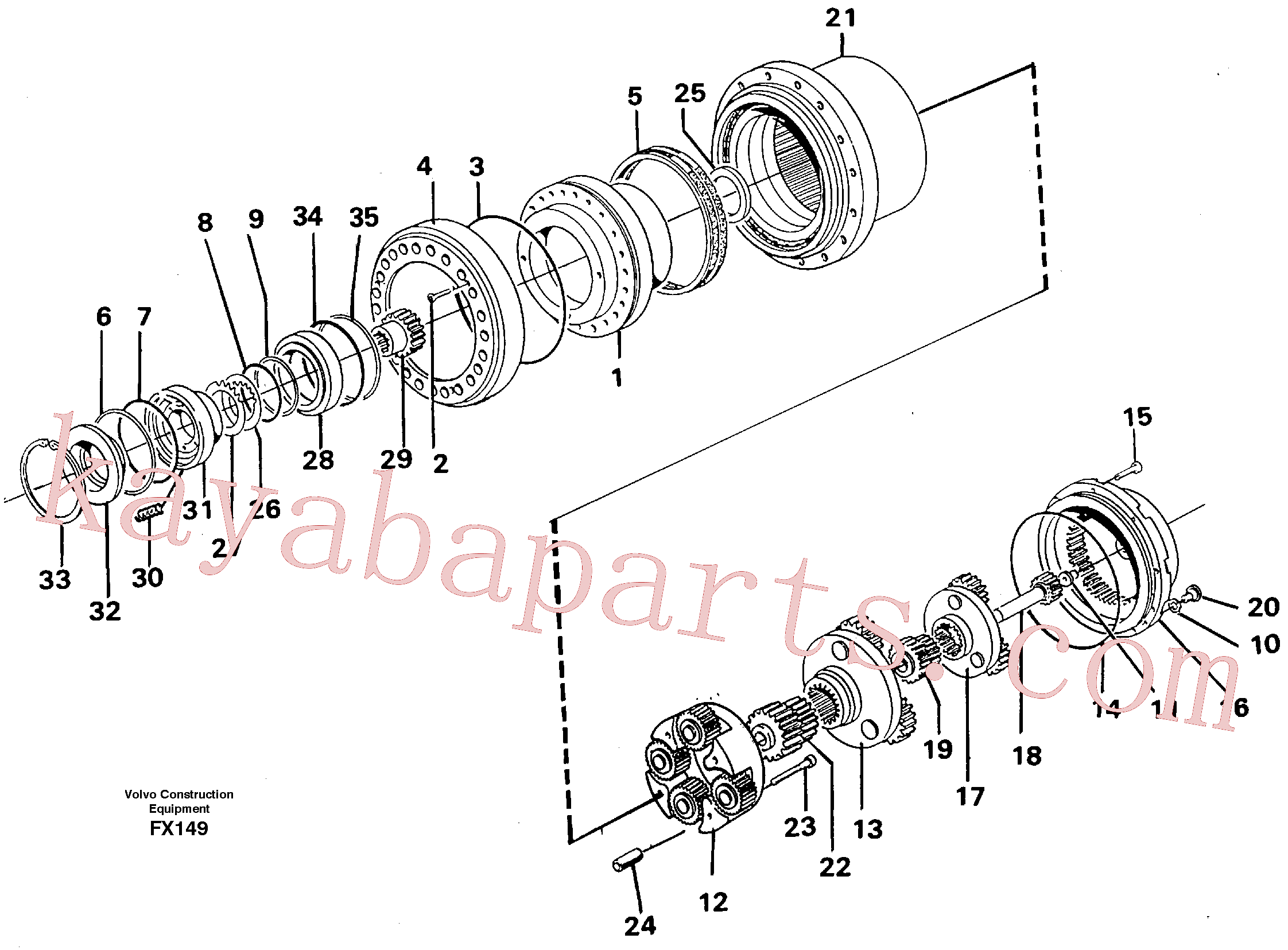 VOE14261946 for Volvo Planetary drive(FX149 assembly)