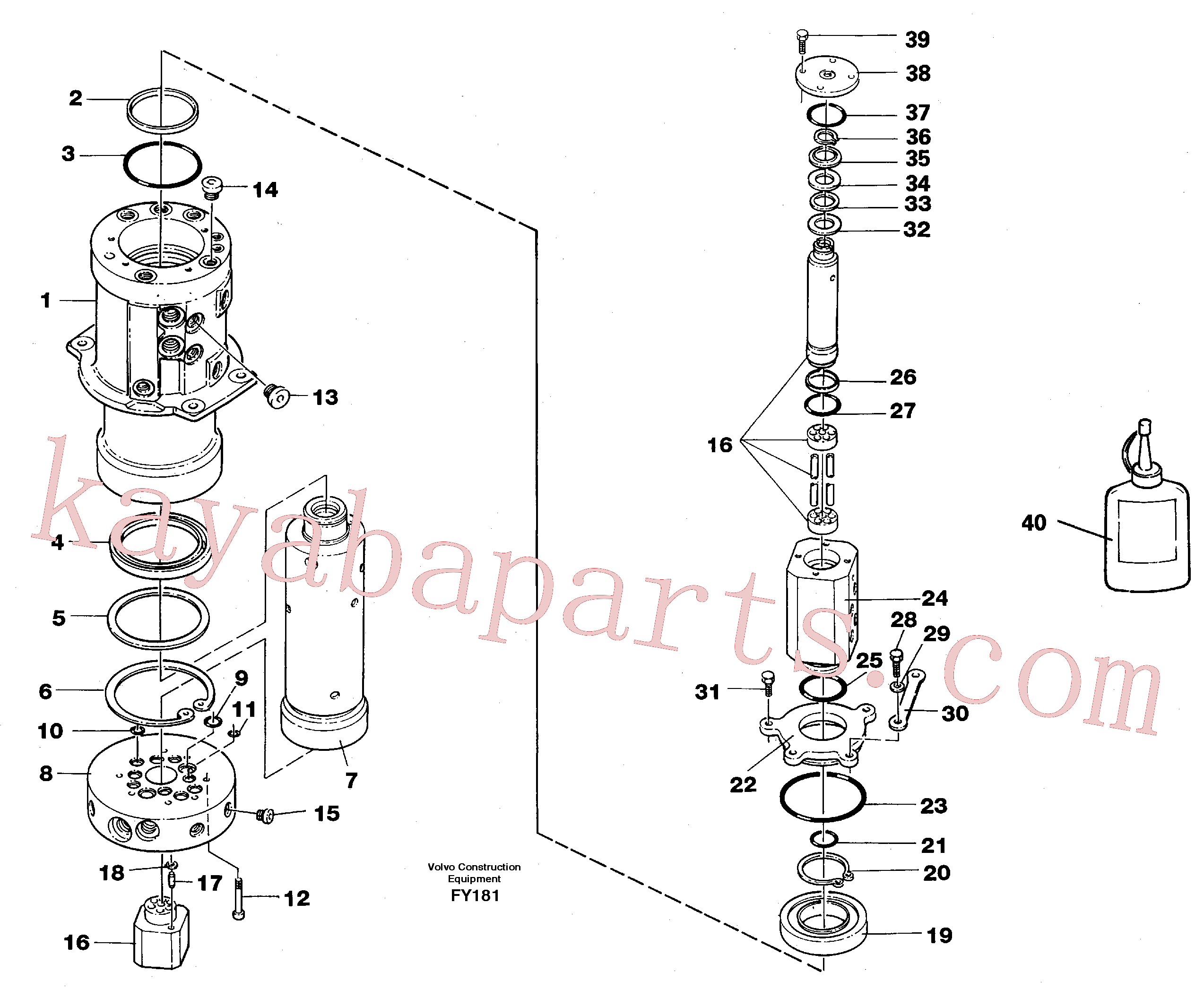VOE15197053 for Volvo Turning joint(FY181 assembly)