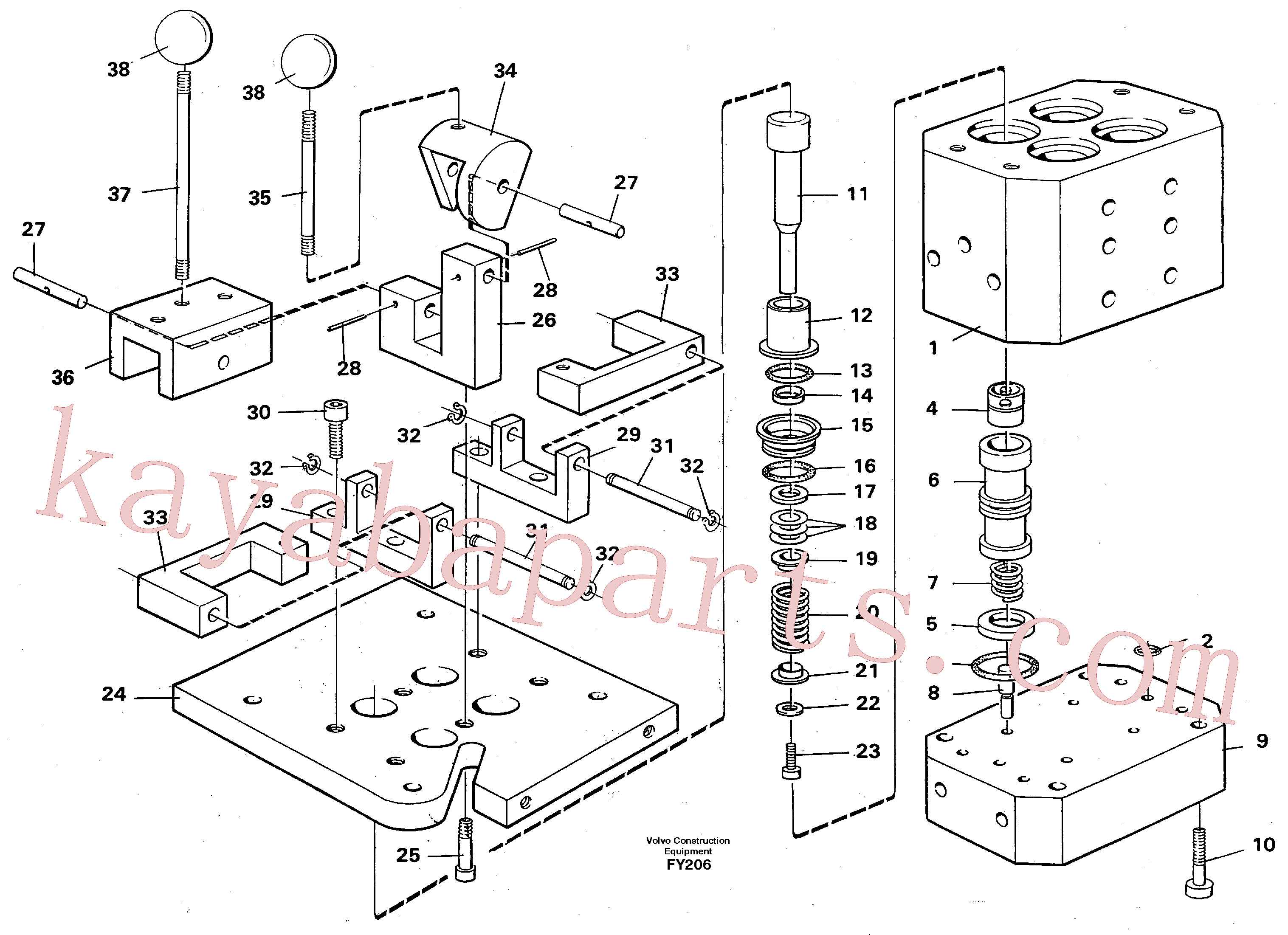 VOE14247297 for Volvo Control pressure valve(FY206 assembly)