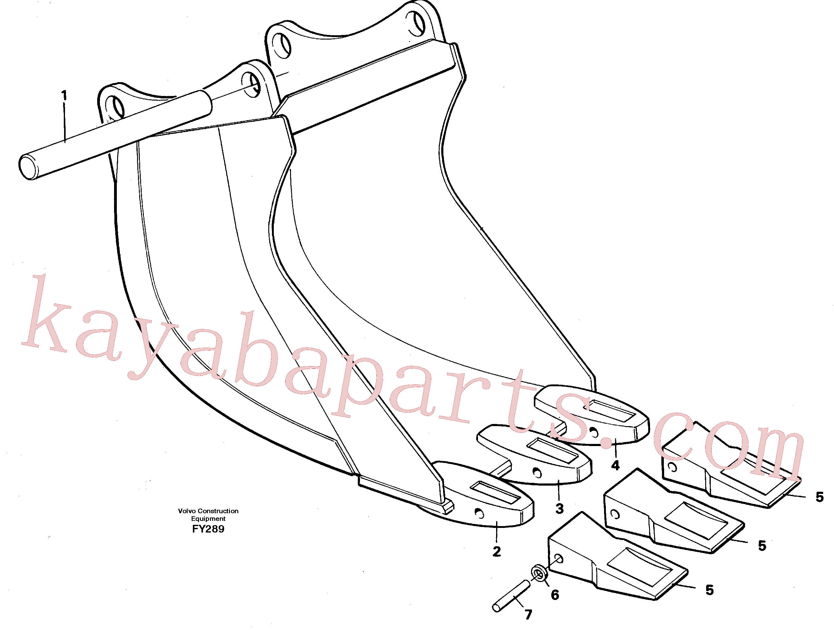 VOE14000879 for Volvo Cable bucket(FY289 assembly)