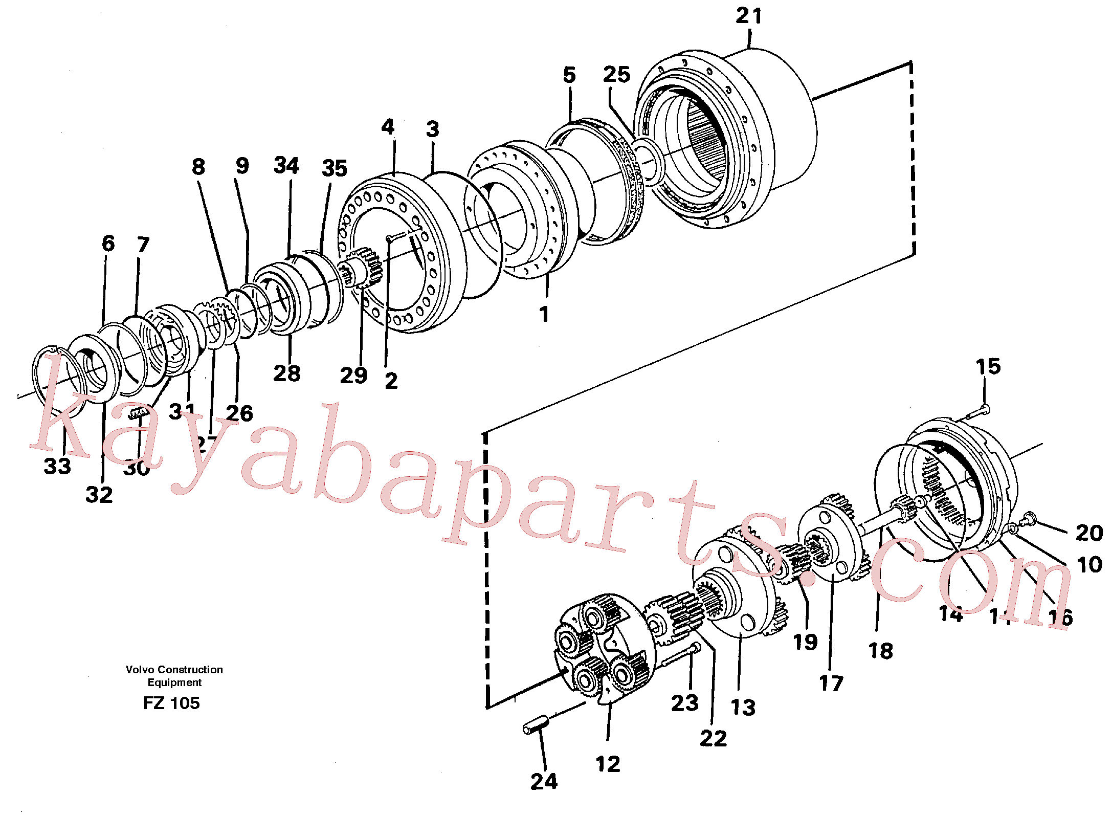 VOE14261946 for Volvo Planetary drive(FZ105 assembly)