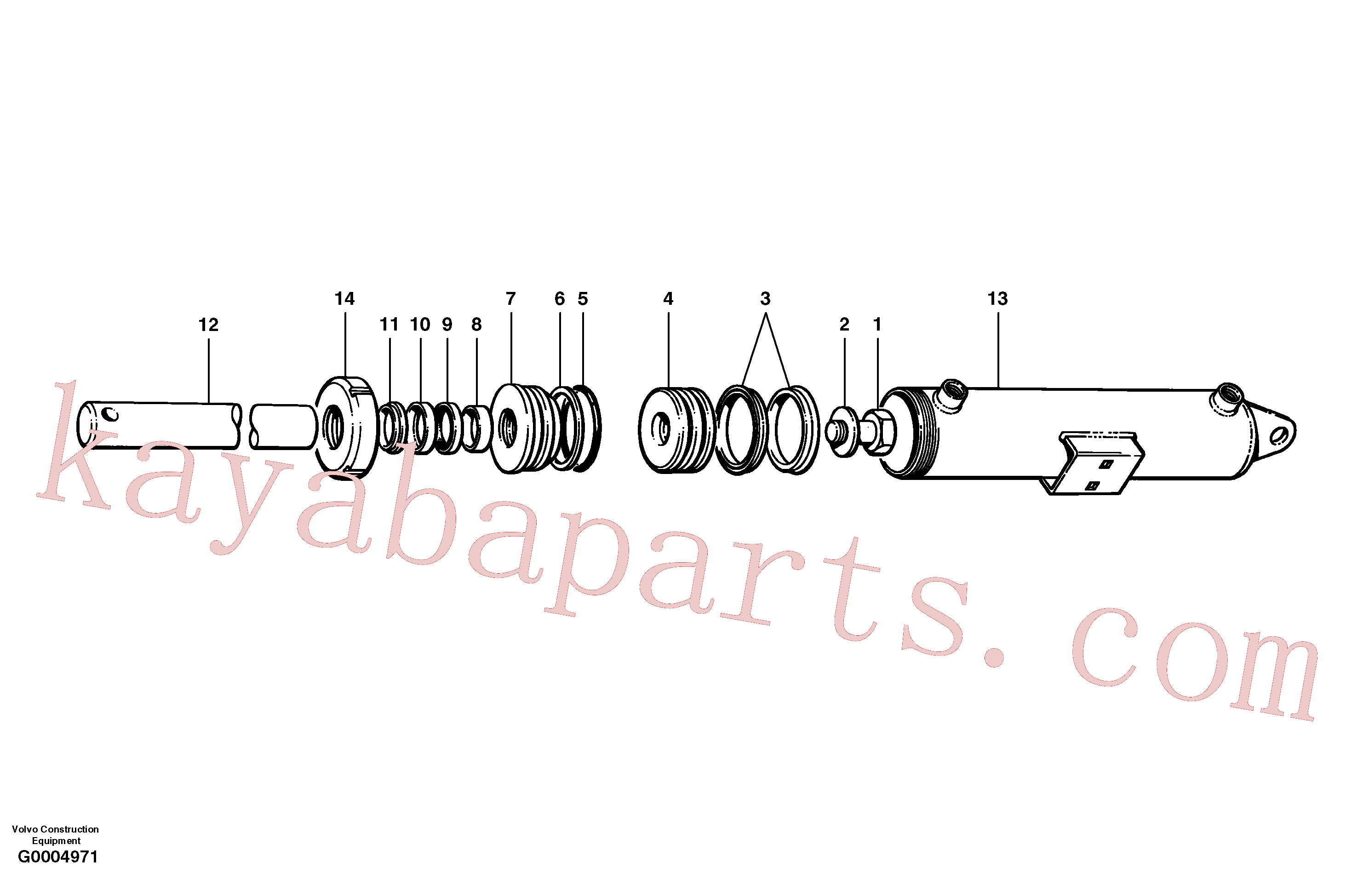 CH44266 for Volvo Plow and dozer cylinder(G0004971 assembly)