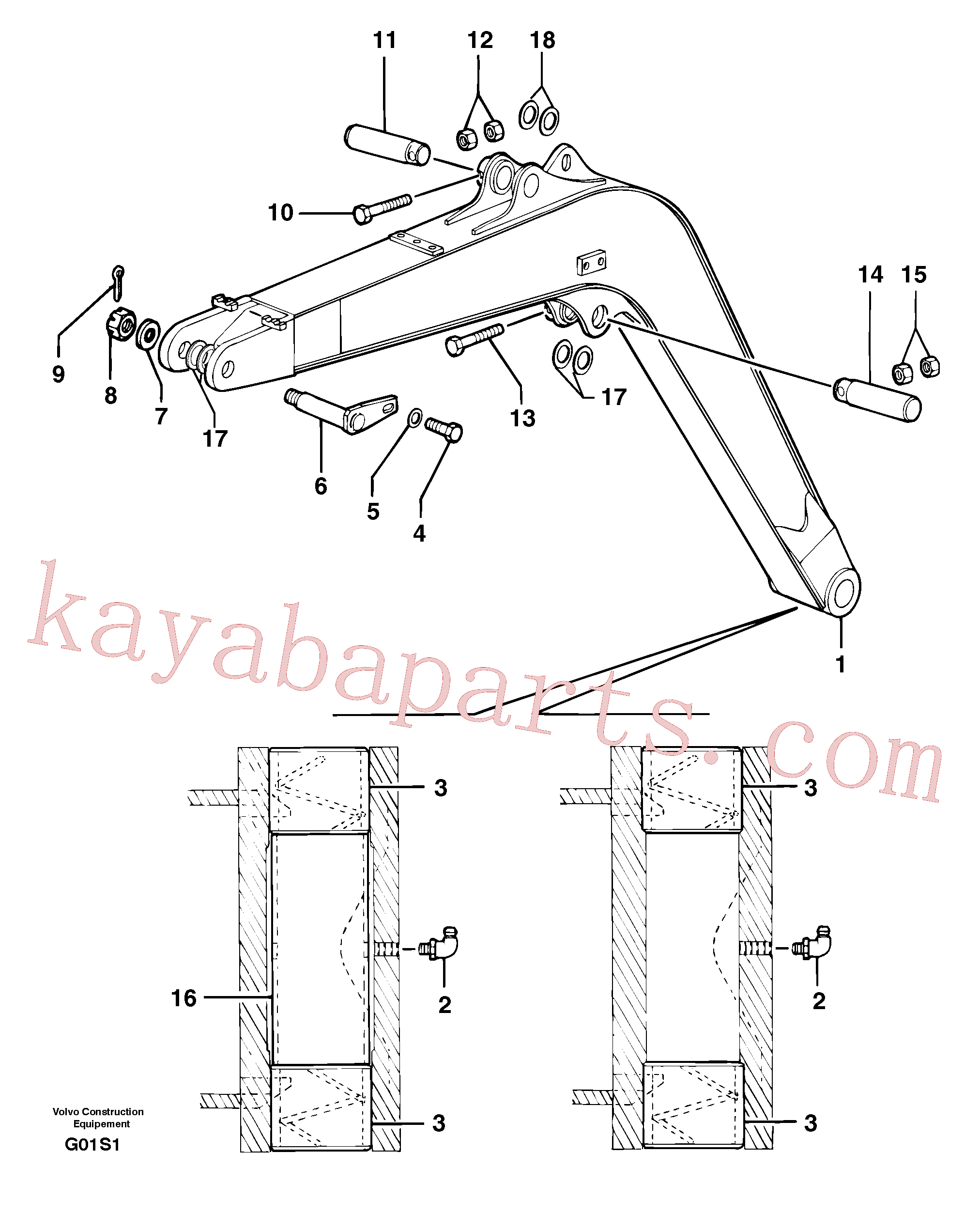 PJ4090109 for Volvo Boom(G01S1 assembly)
