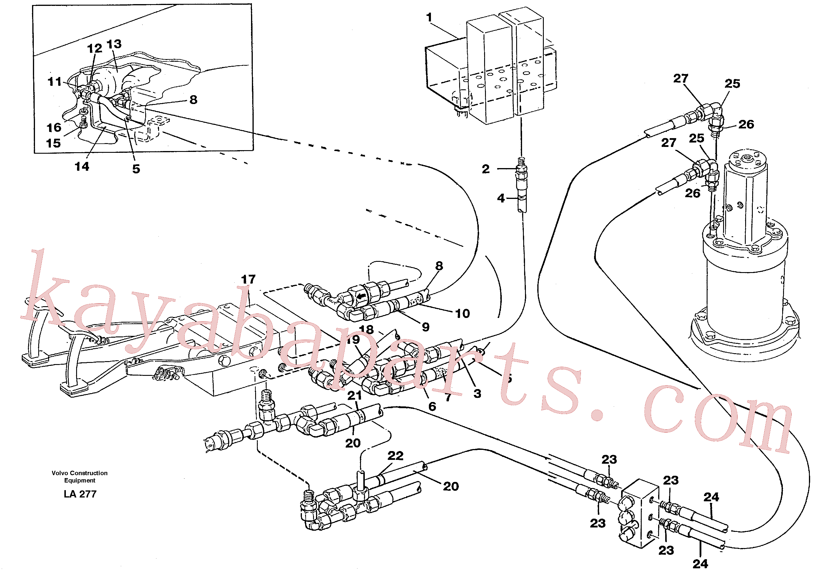 VOE14213824 for Volvo Brake system, superstructure(LA277 assembly)