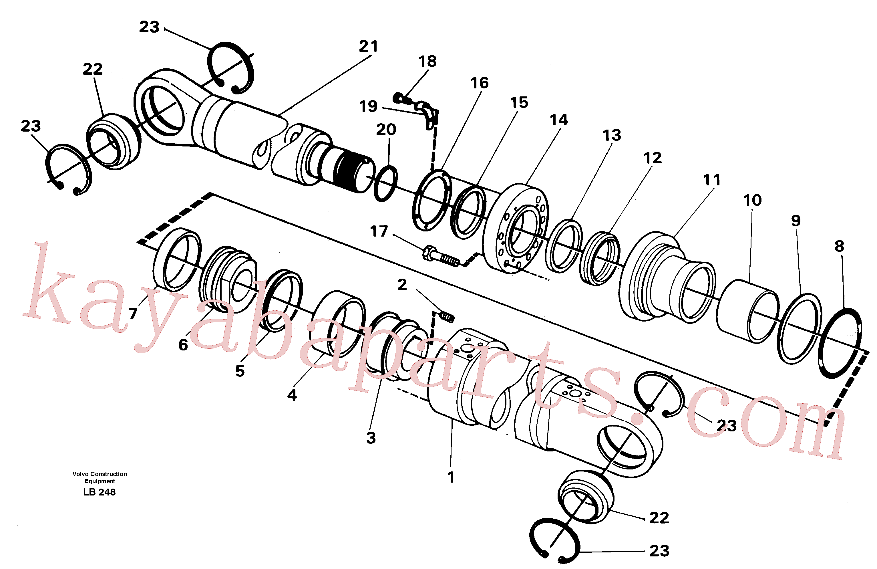 VOE14237763 for Volvo Crane beam cylinder, material handle equipment(LB248 assembly)