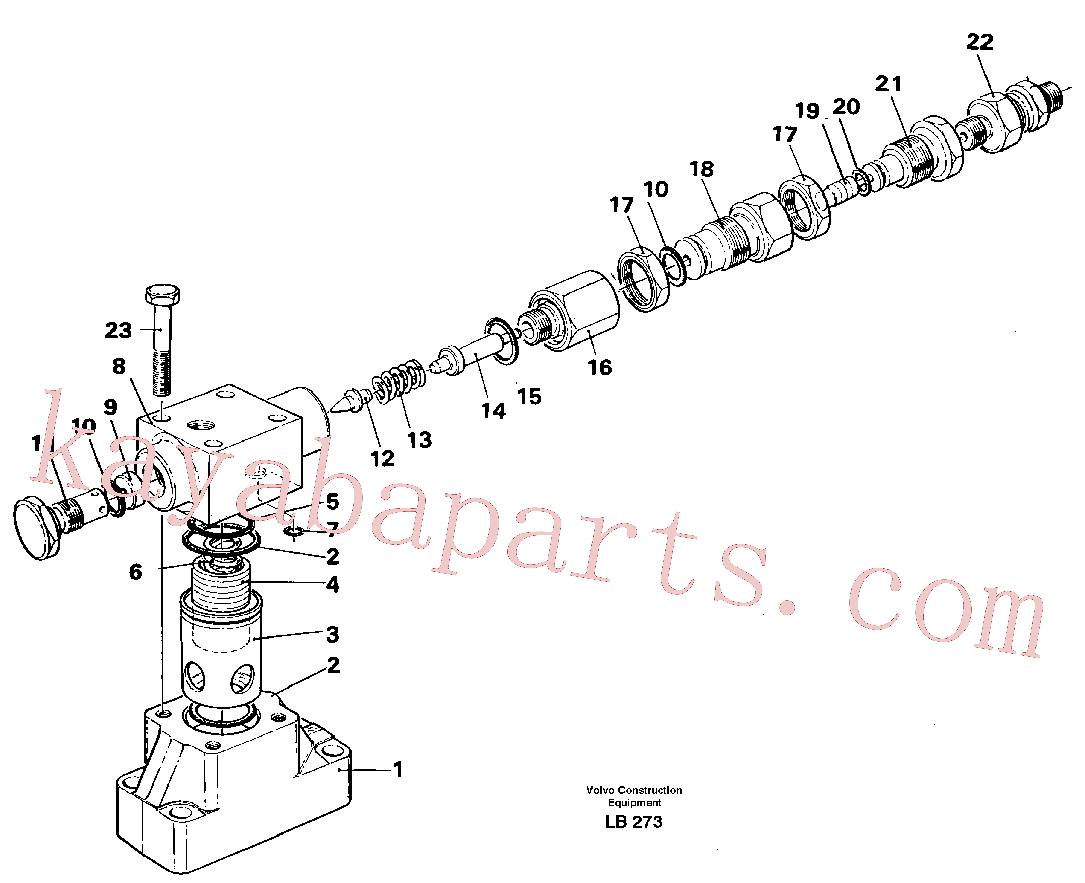 VOE14239781 for Volvo Pressure limiting valve, slewing(LB273 assembly)
