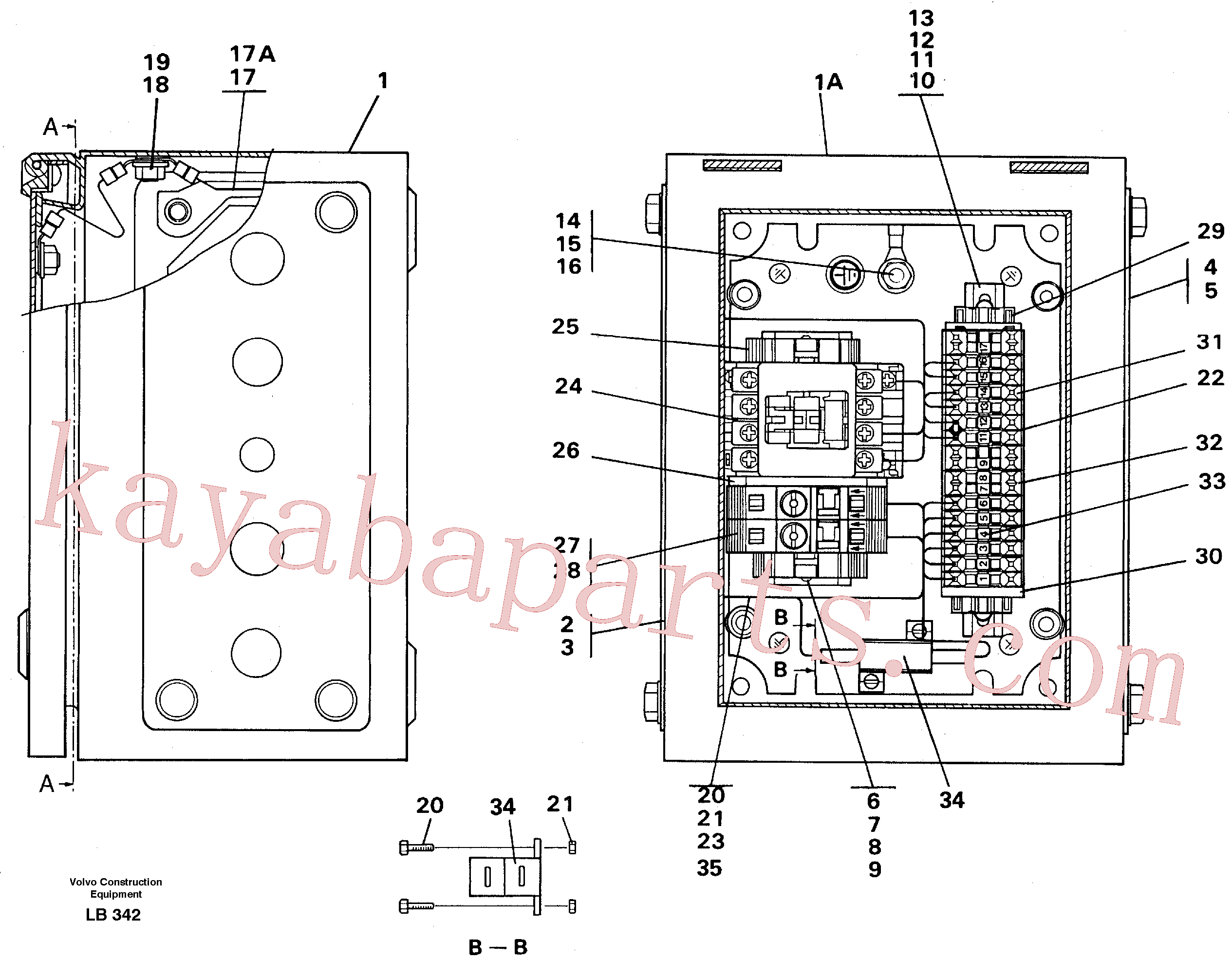 VOE14213801 for Volvo Magnet equipment Ohio, Electrical distribution unit(LB342 assembly)