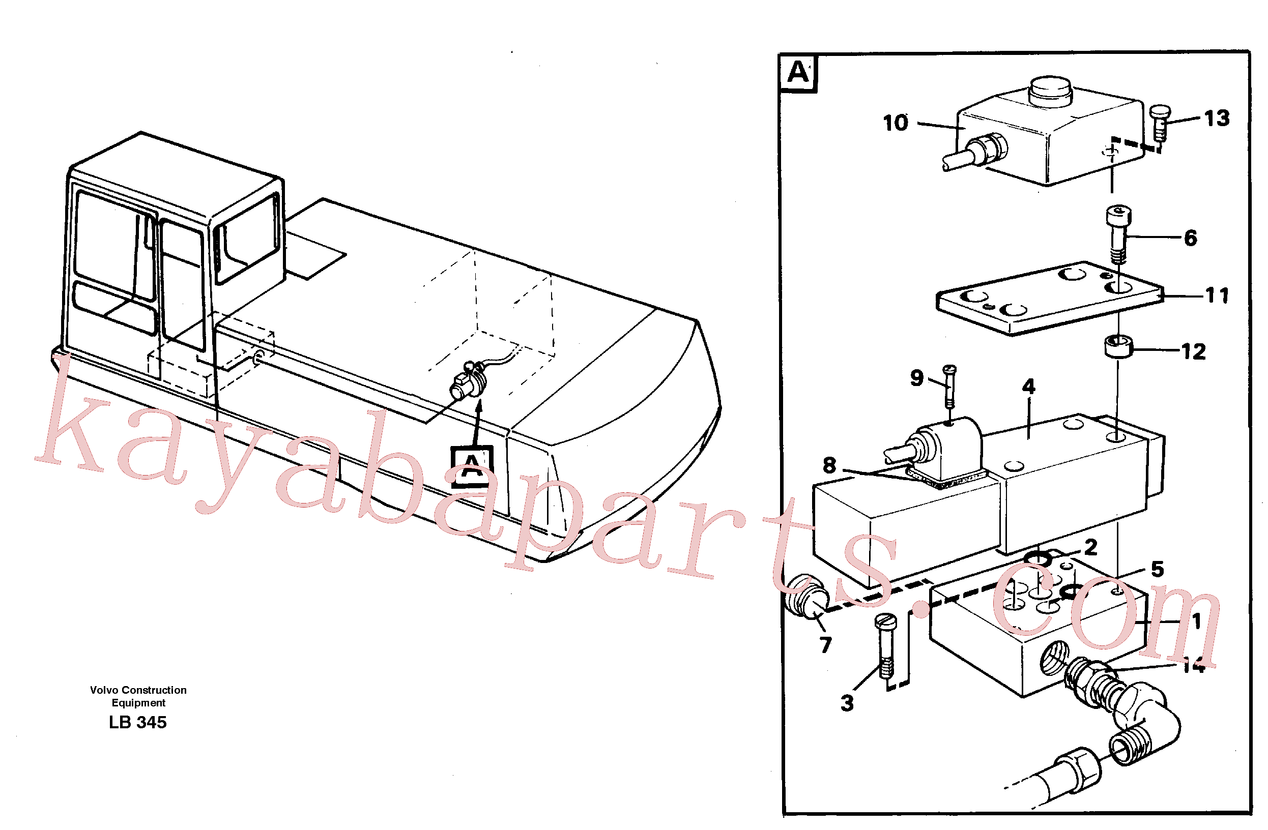 VOE14213999 for Volvo Overfilling guard(LB345 assembly)