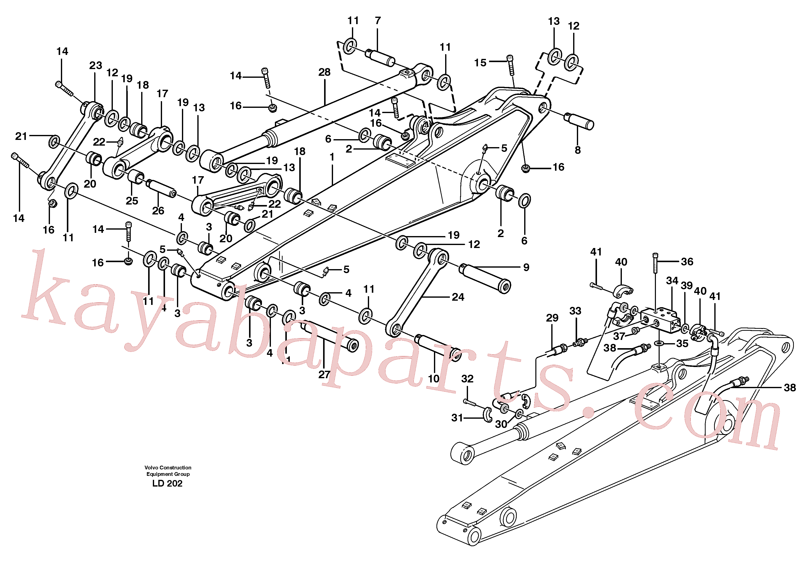 VOE14370066 for Volvo Dipper arm incl. connect.(LD202 assembly)
