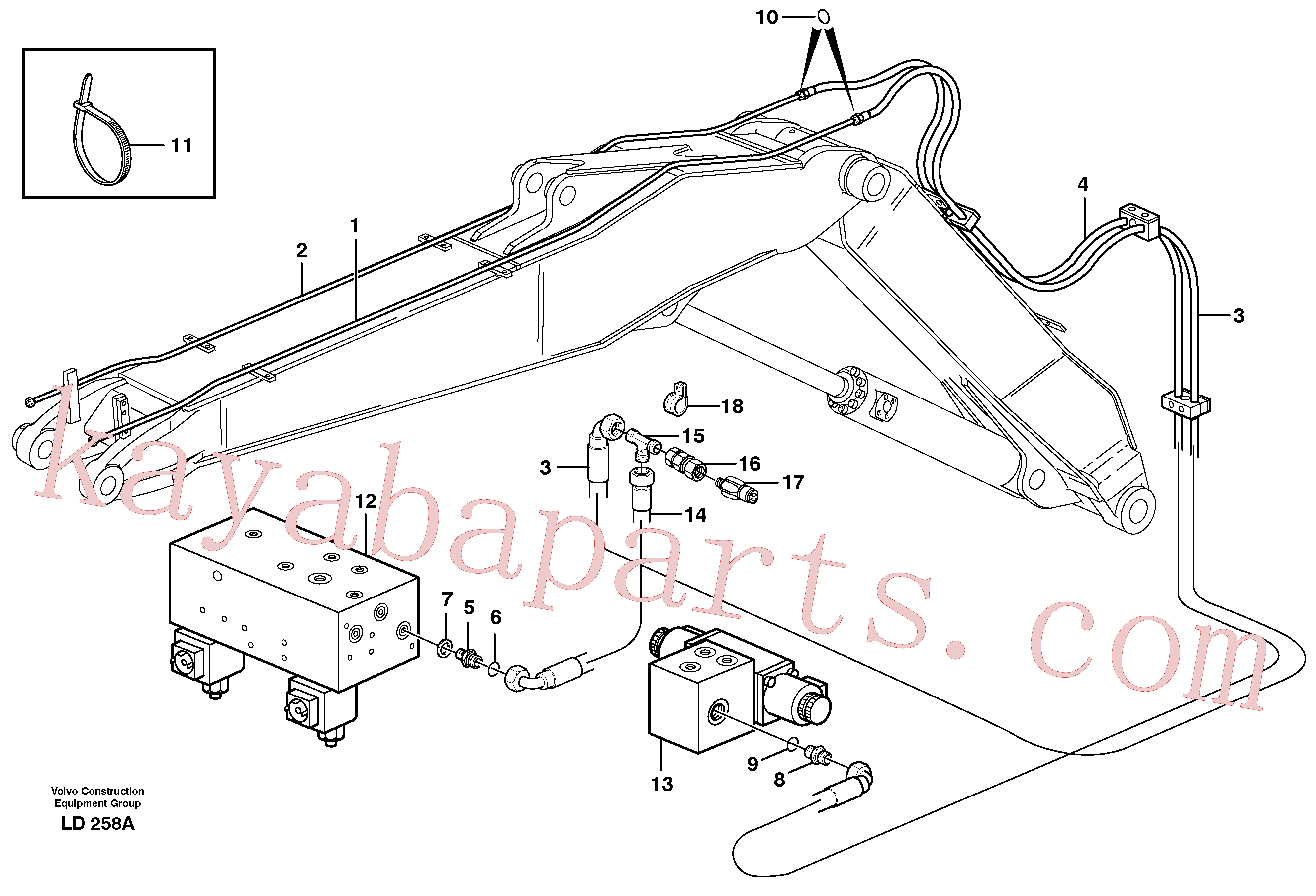VOE14378711 for Volvo Hydr. quick fit equipm. on adjustable boom(LD258A assembly)