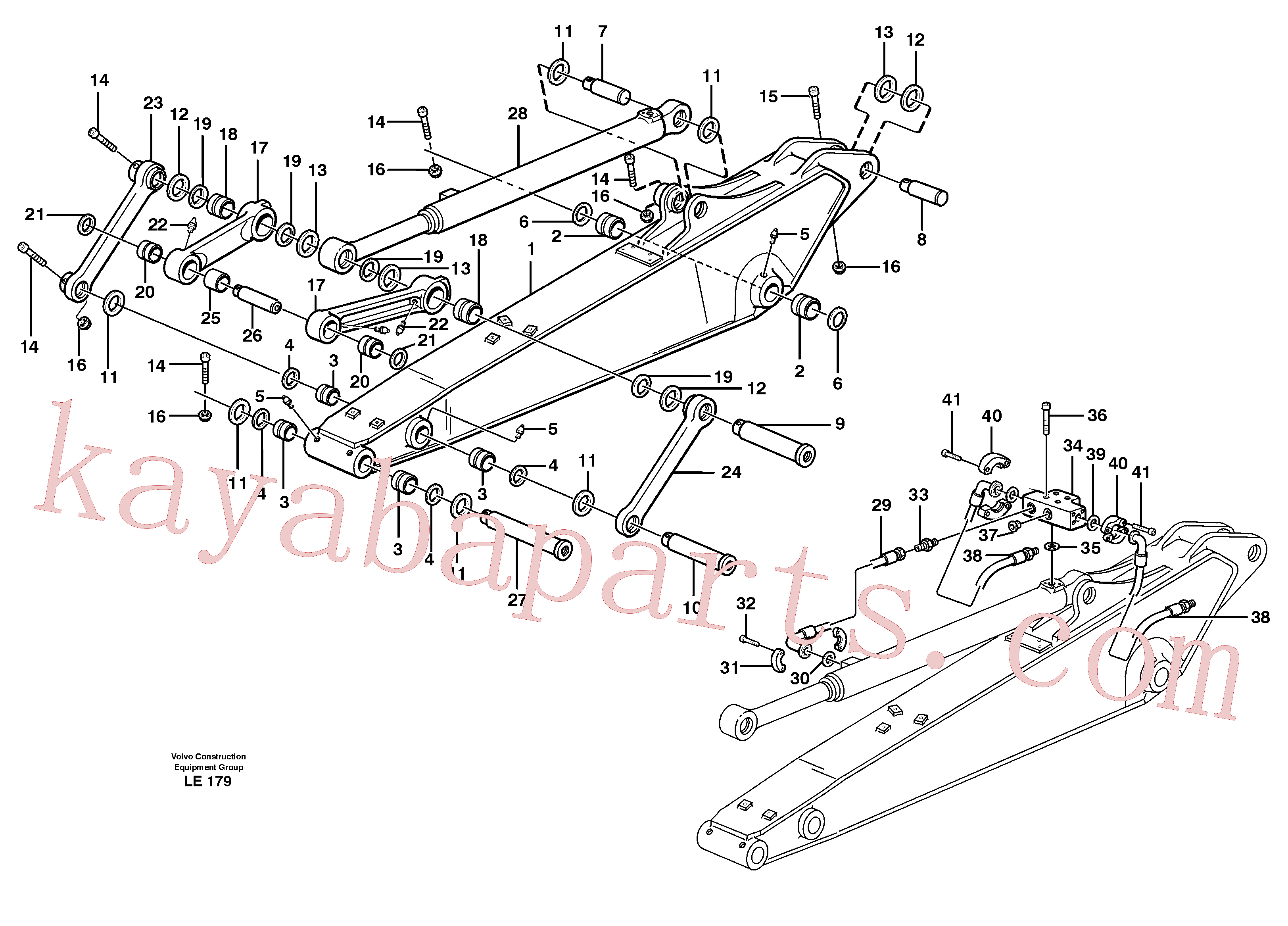 VOE14370066 for Volvo Dipper arm incl. connect.(LE179 assembly)