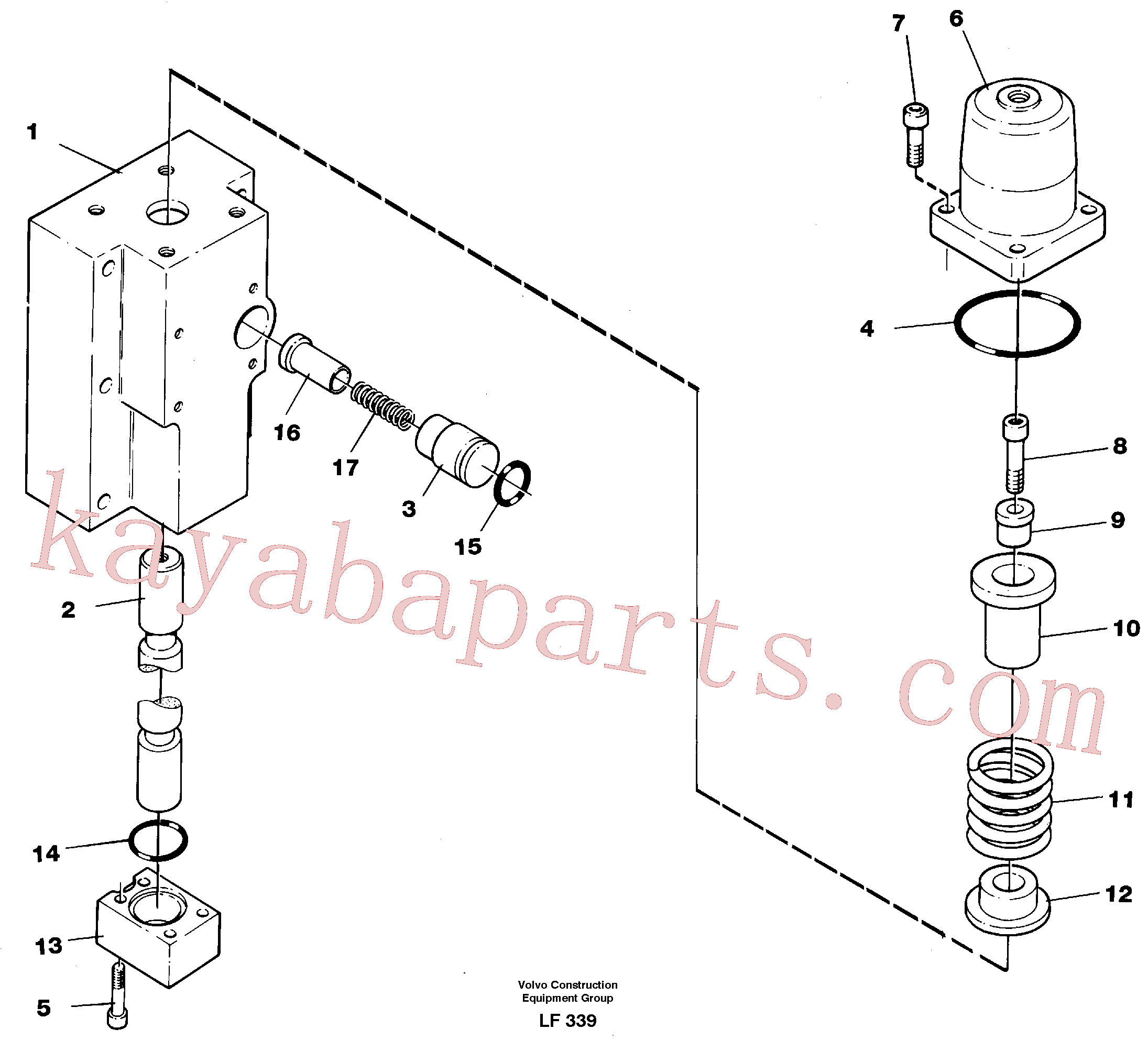 VOE14266570 for Volvo Four-way valve, dipper primary(LF339 assembly)