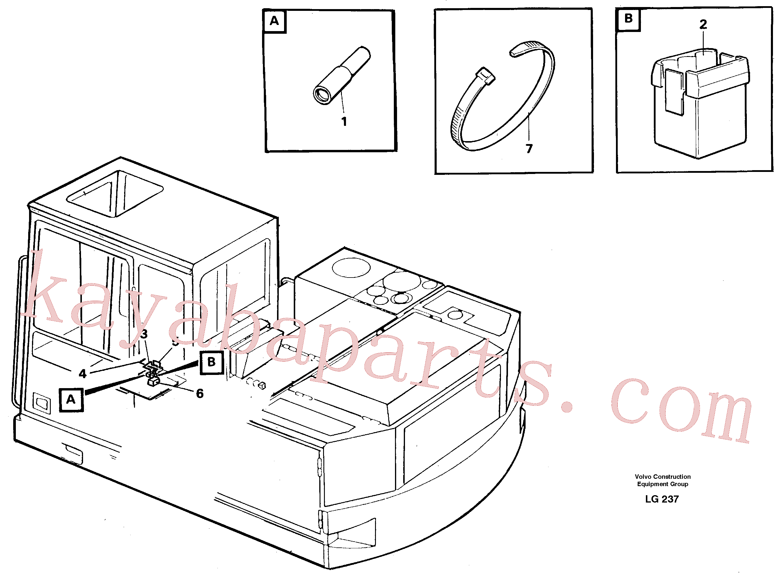 VOE949583 for Volvo Electric installation for hydraulic hammer(LG237 assembly)