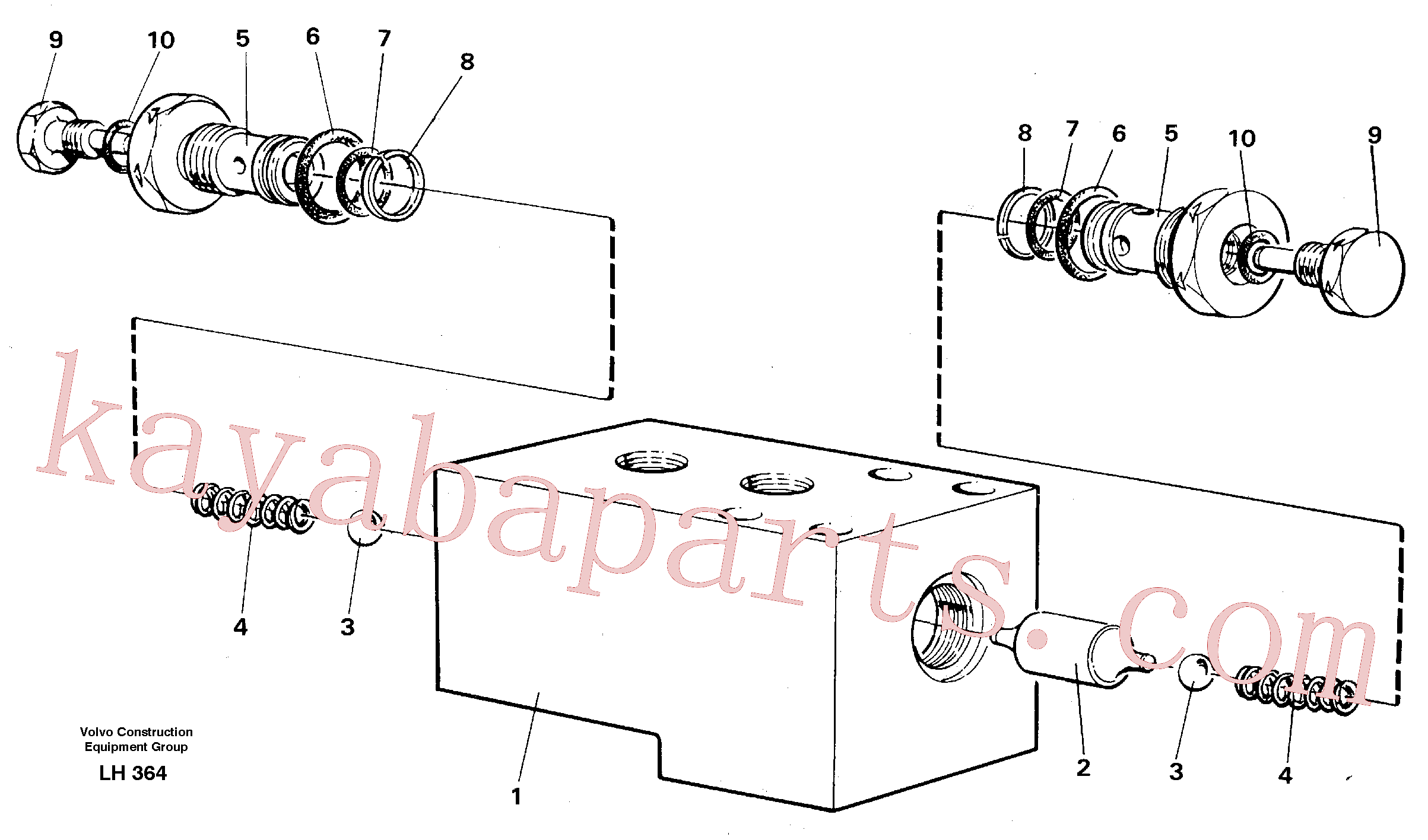 VOE14233681 for Volvo Hydraulic lock, outriggers(LH364 assembly)