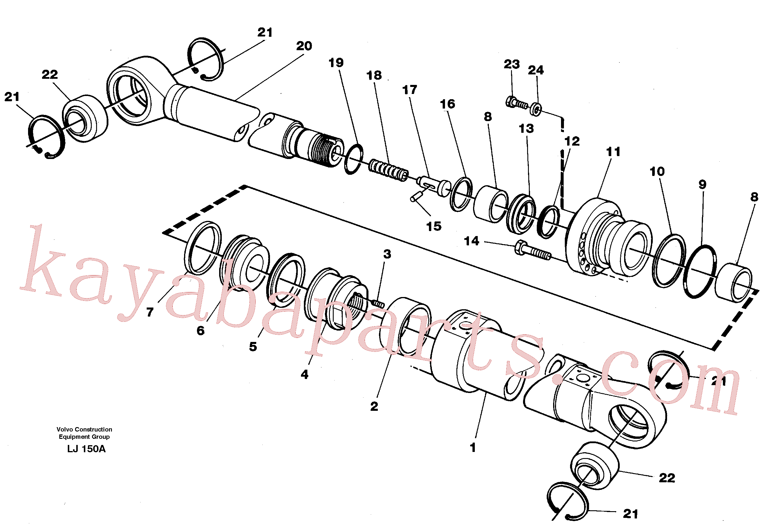 VOE11709519 for Volvo Bucket cylinder(LJ150A assembly)
