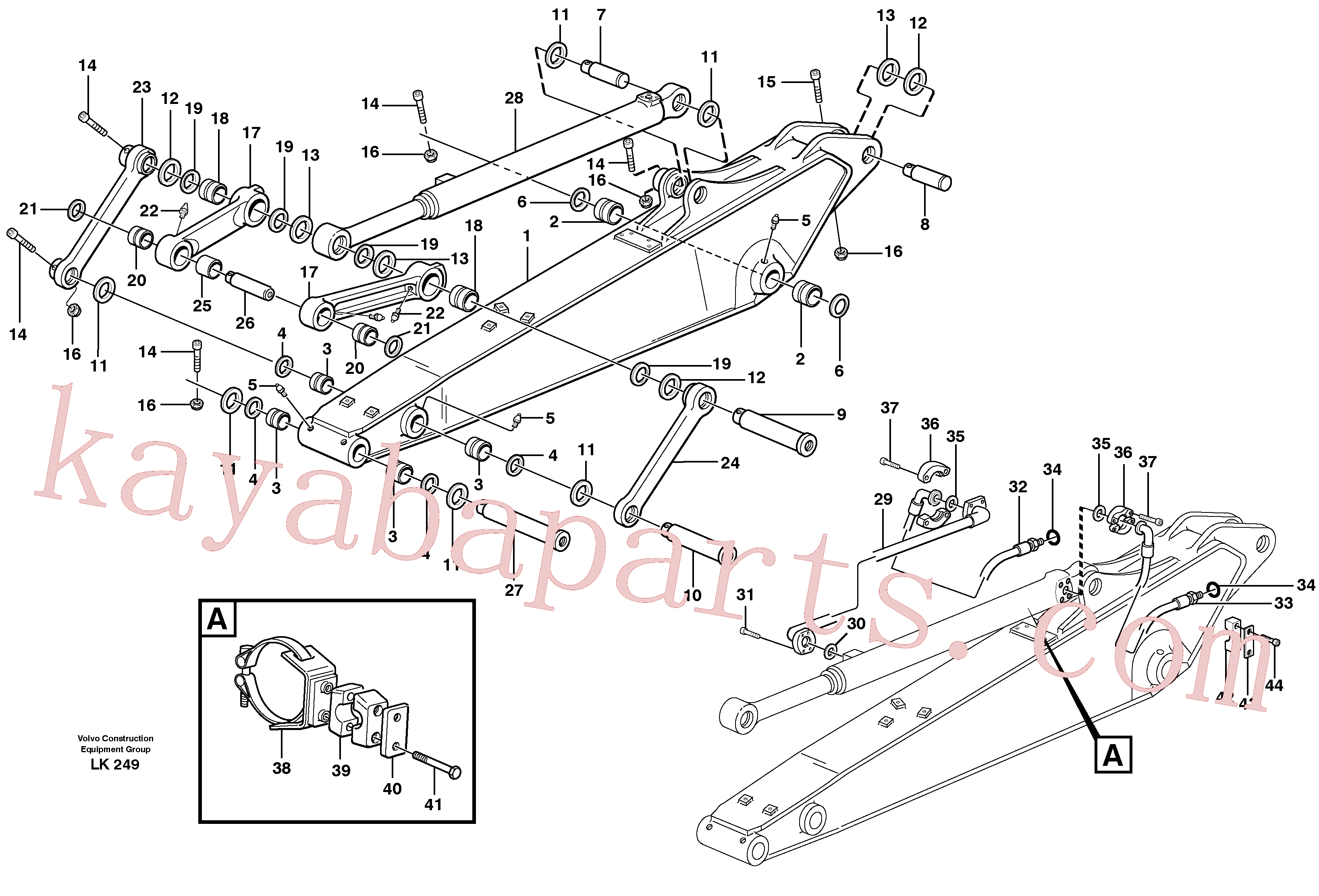 VOE14370066 for Volvo Dipper arm incl. connect.(LK249A assembly)