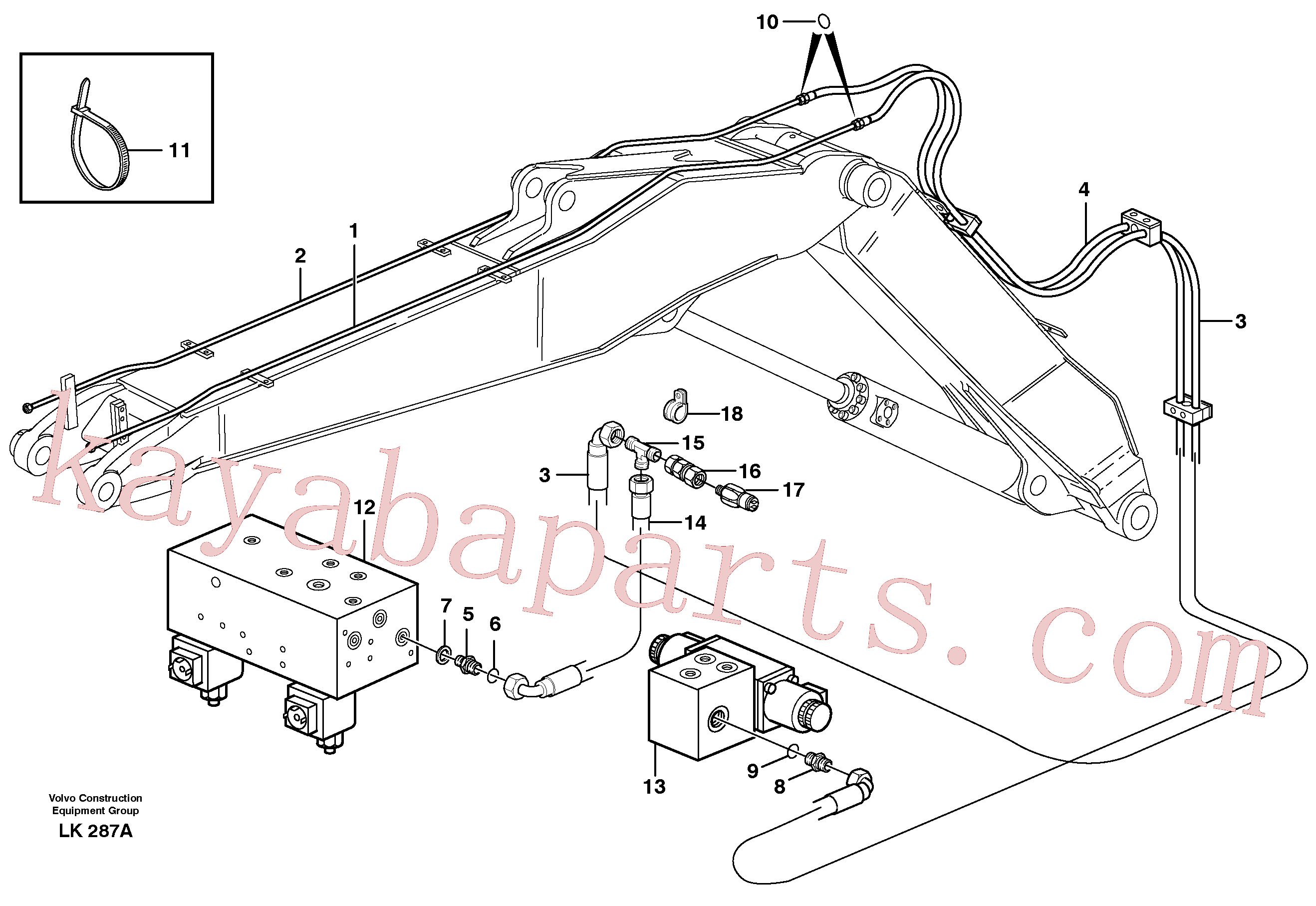 VOE14378711 for Volvo Hydr. quick fit equipm. on adjustable boom(LK287A assembly)