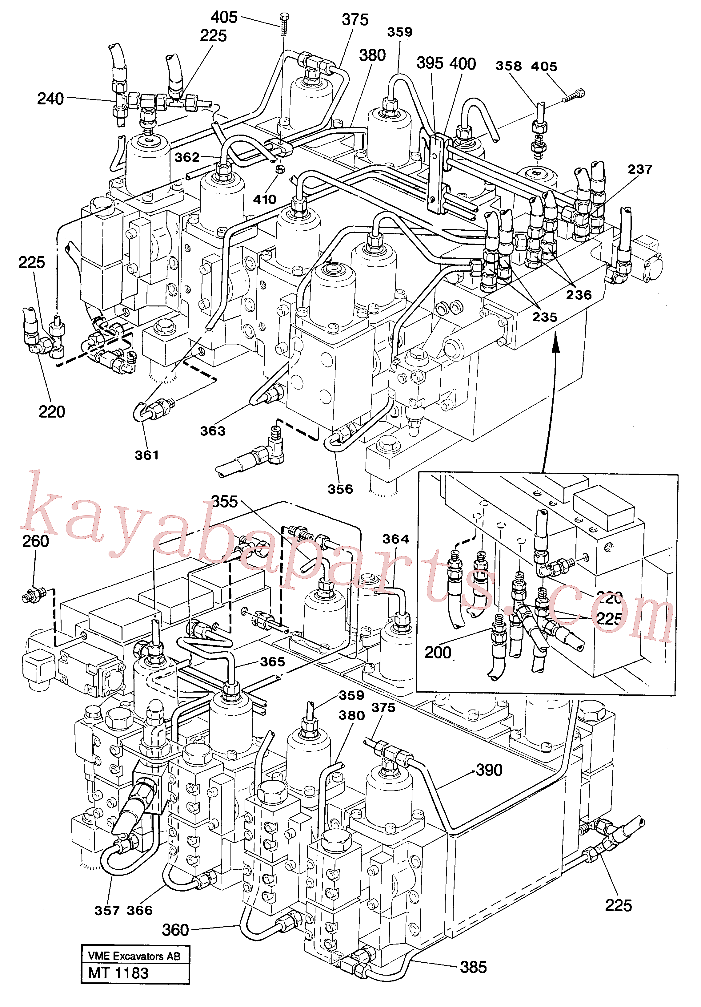 VOE13964042 for Volvo Main valve assembly with connections(MT1183 assembly)