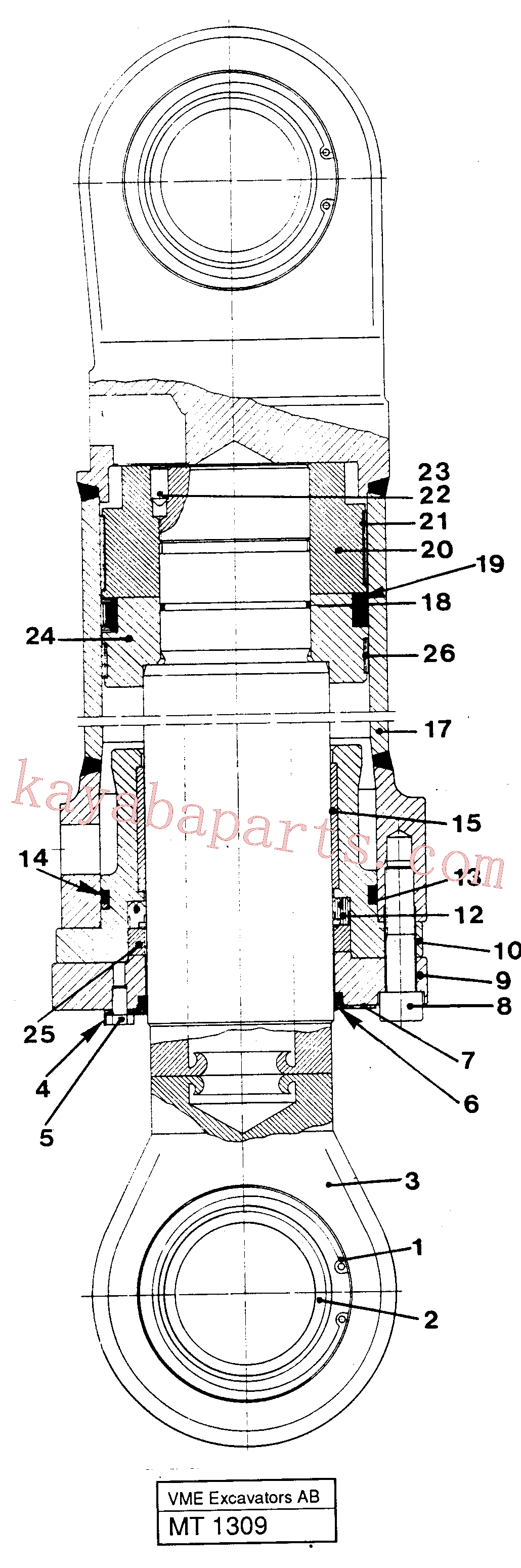 VOE14237763 for Volvo Dipper cylinder materials handling equipm, Dipper arm cylinder(MT1309 assembly)