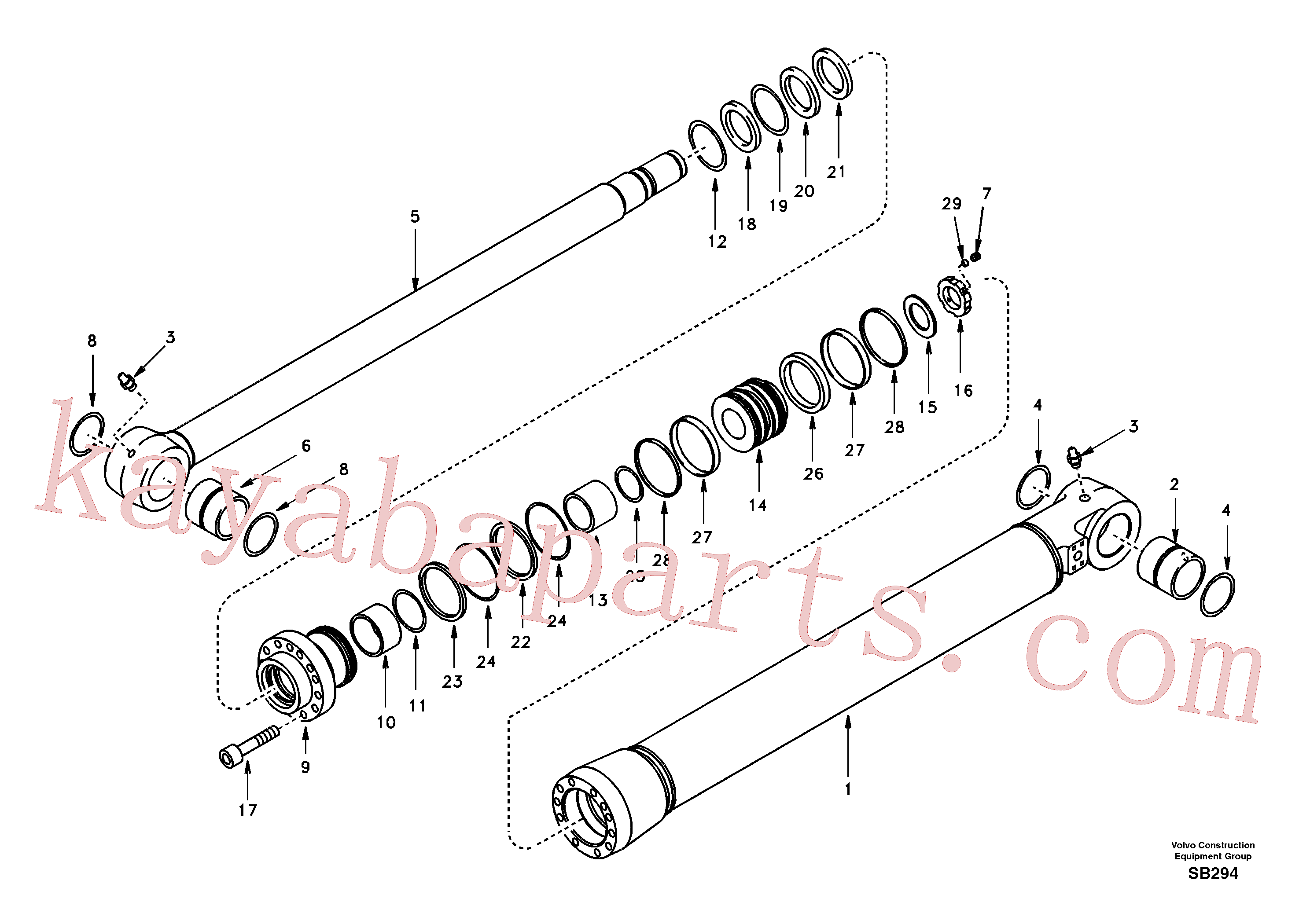 SA9561-08010 for Volvo Bucket cylinder(SB294 assembly)