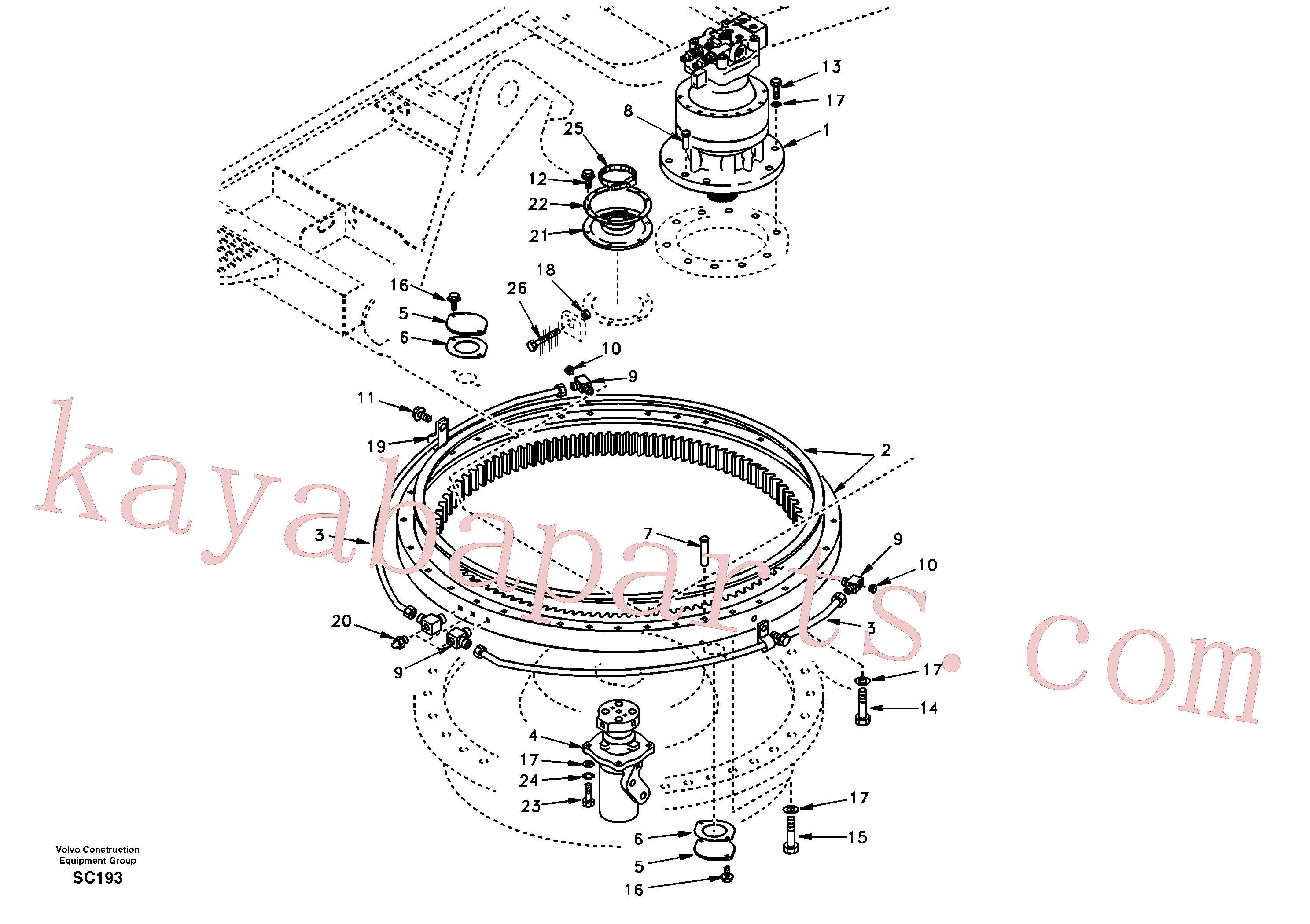 SA1155-01191 for Volvo Swing system(SC193 assembly)