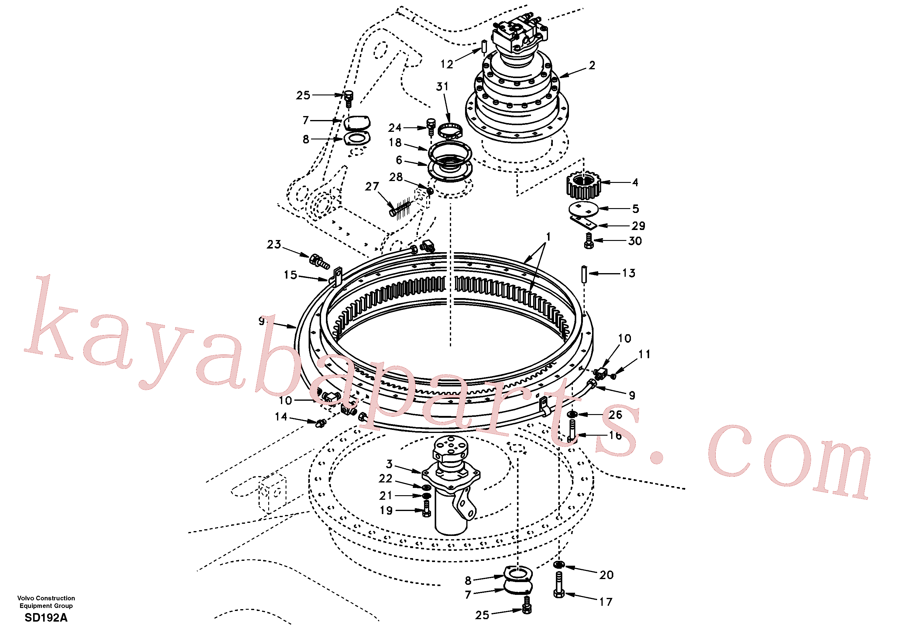 SA1155-01191 for Volvo Swing system(SD192A assembly)