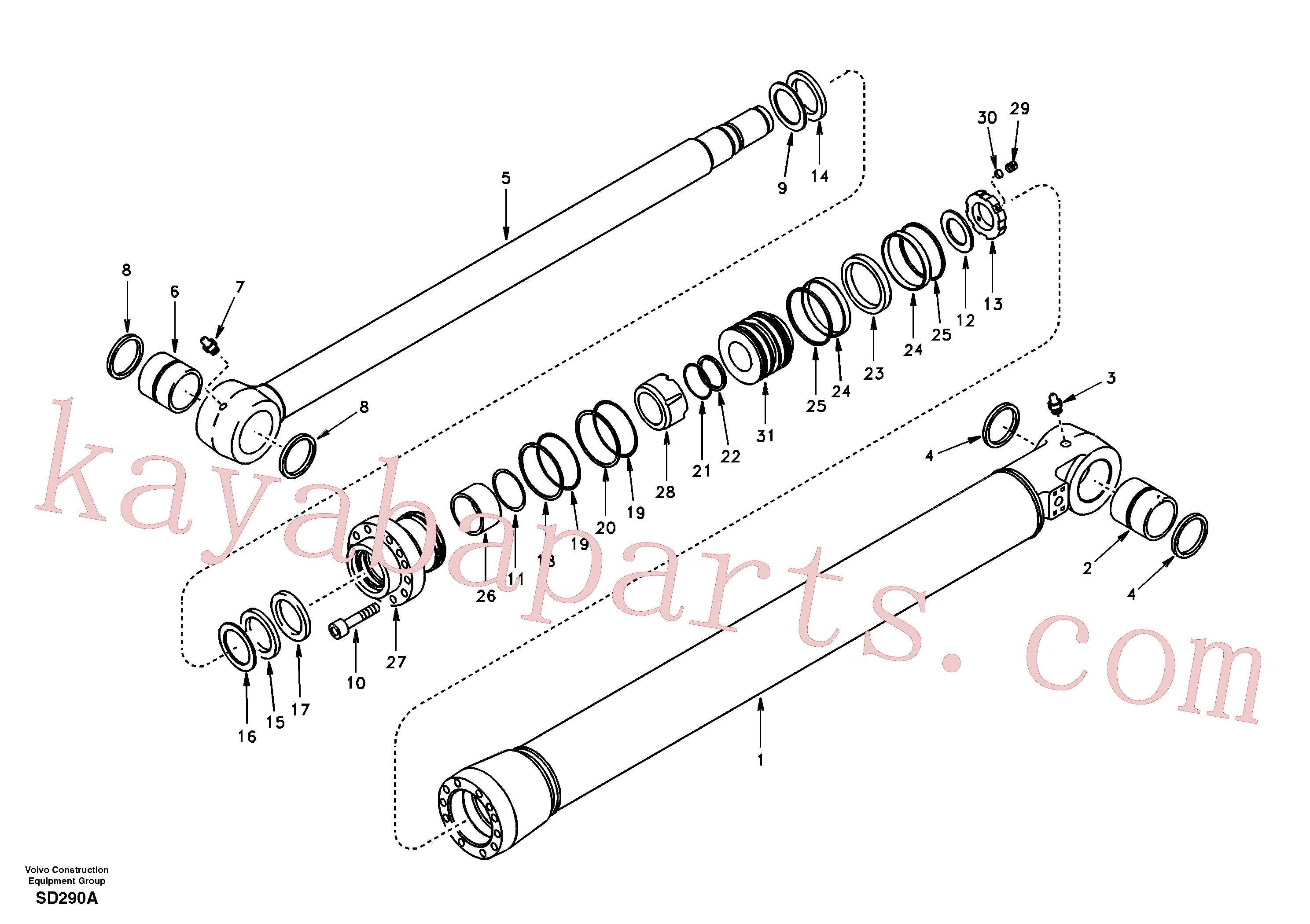 SA9561-08010 for Volvo Bucket cylinder(SD290A assembly)
