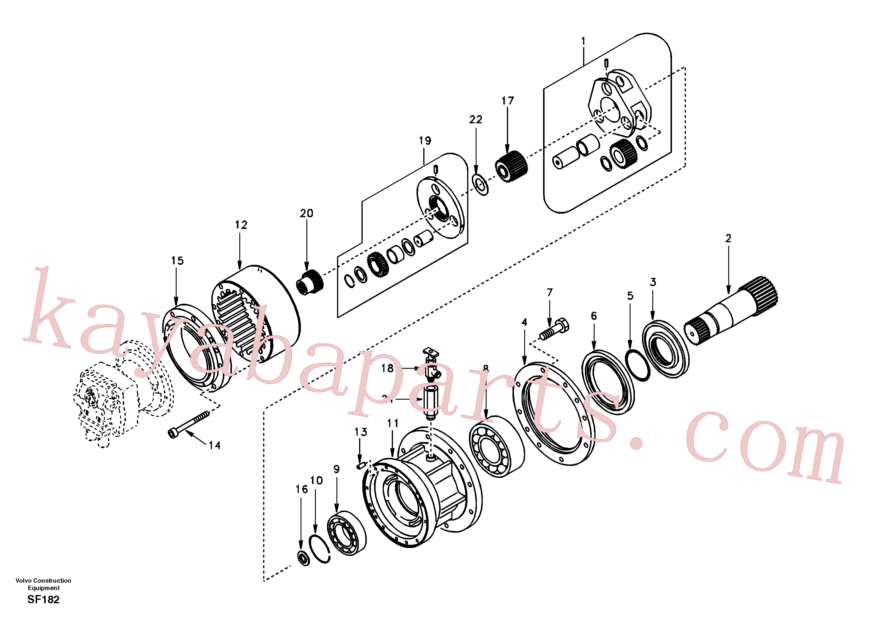 SA7118-30330 for Volvo Swing gearbox(SF182 assembly)