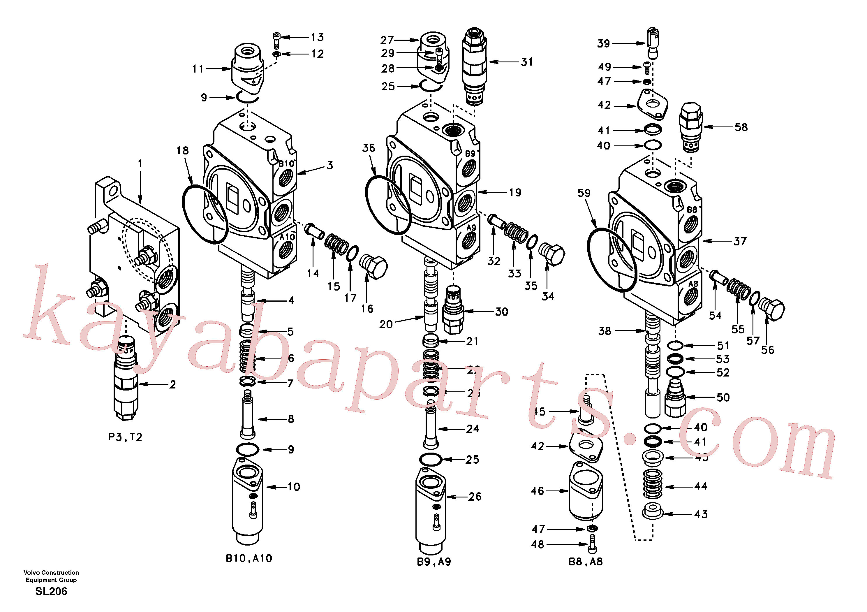 VOE14514680 for Volvo Main control valve, inlet and boom and boom swing(SL206 assembly)