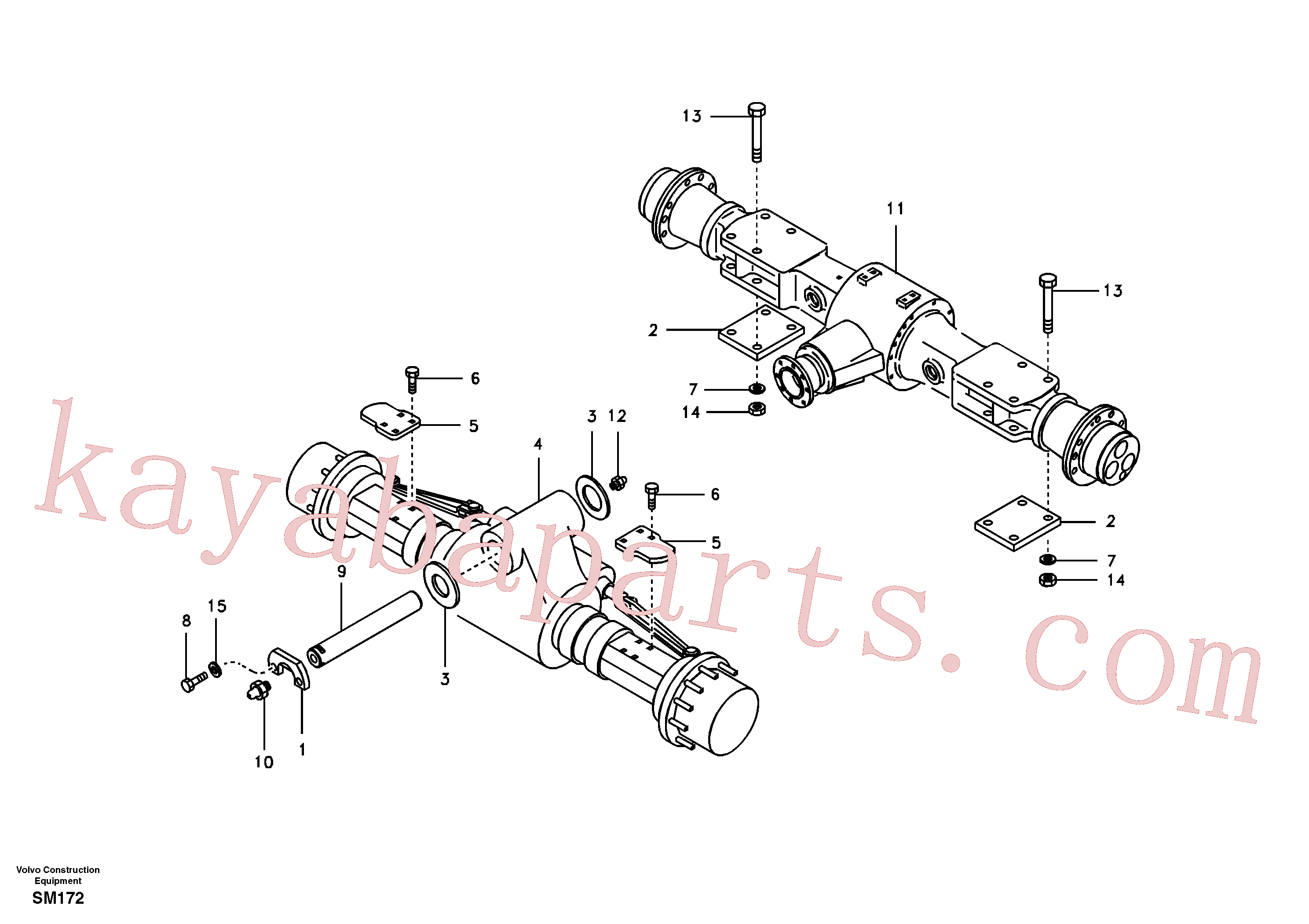 VOE60110006 for Volvo Front and rear axle mounting(SM172 assembly)