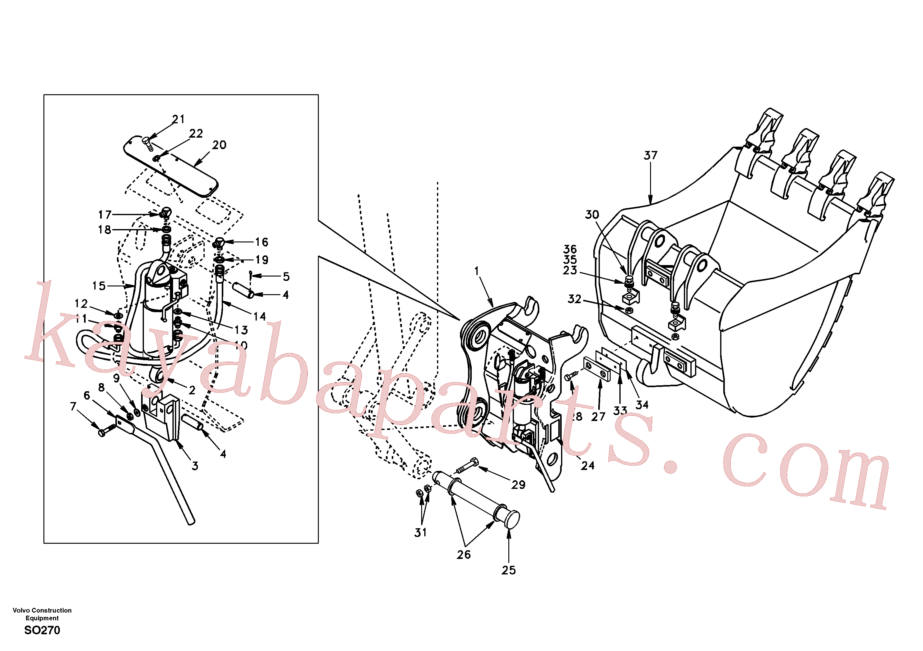SA9011-12413 for Volvo Attachment bracket, quickfit(SO270 assembly)