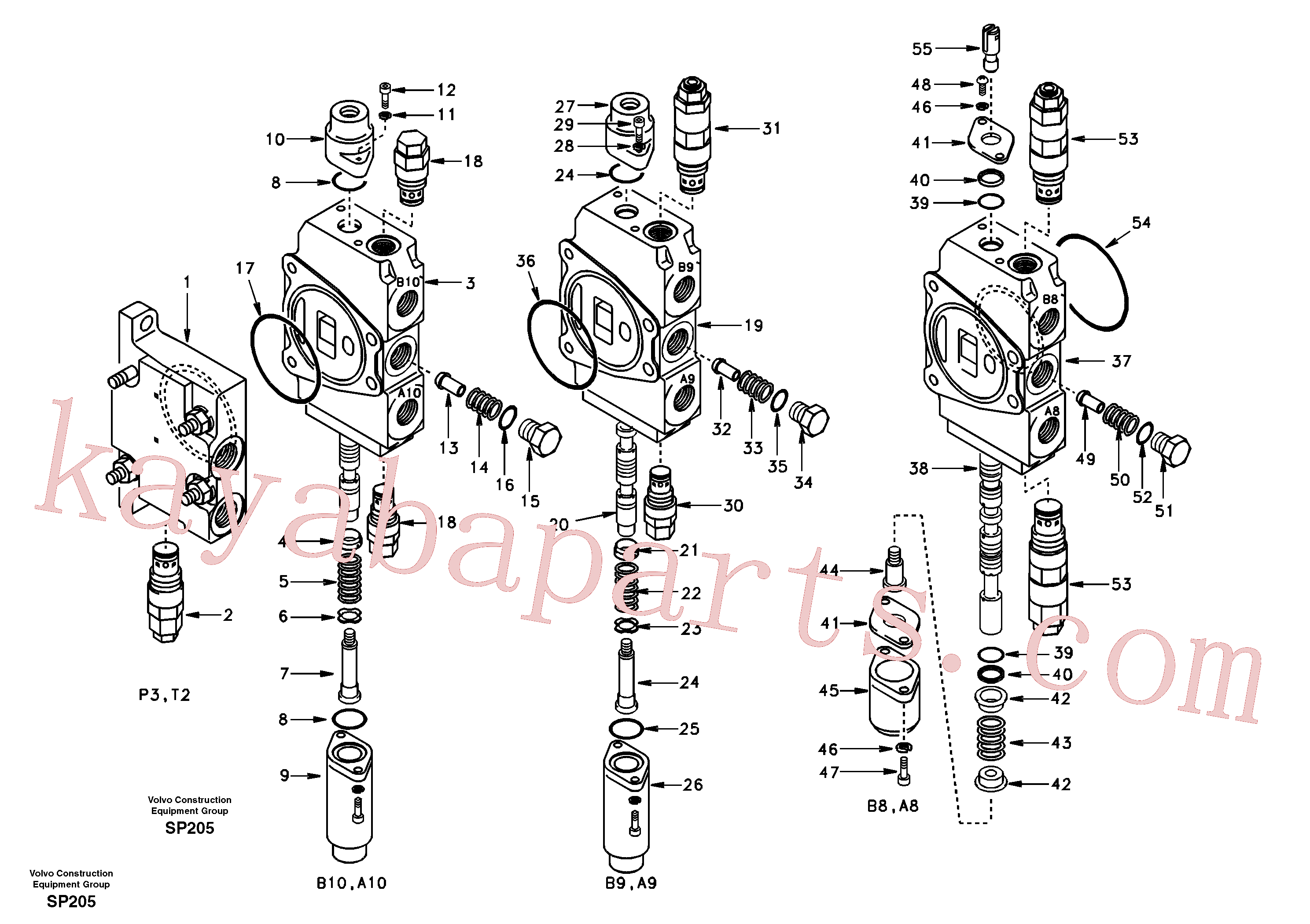 VOE14514680 for Volvo Main control valve, inlet and boom and boom swing(SP205 assembly)