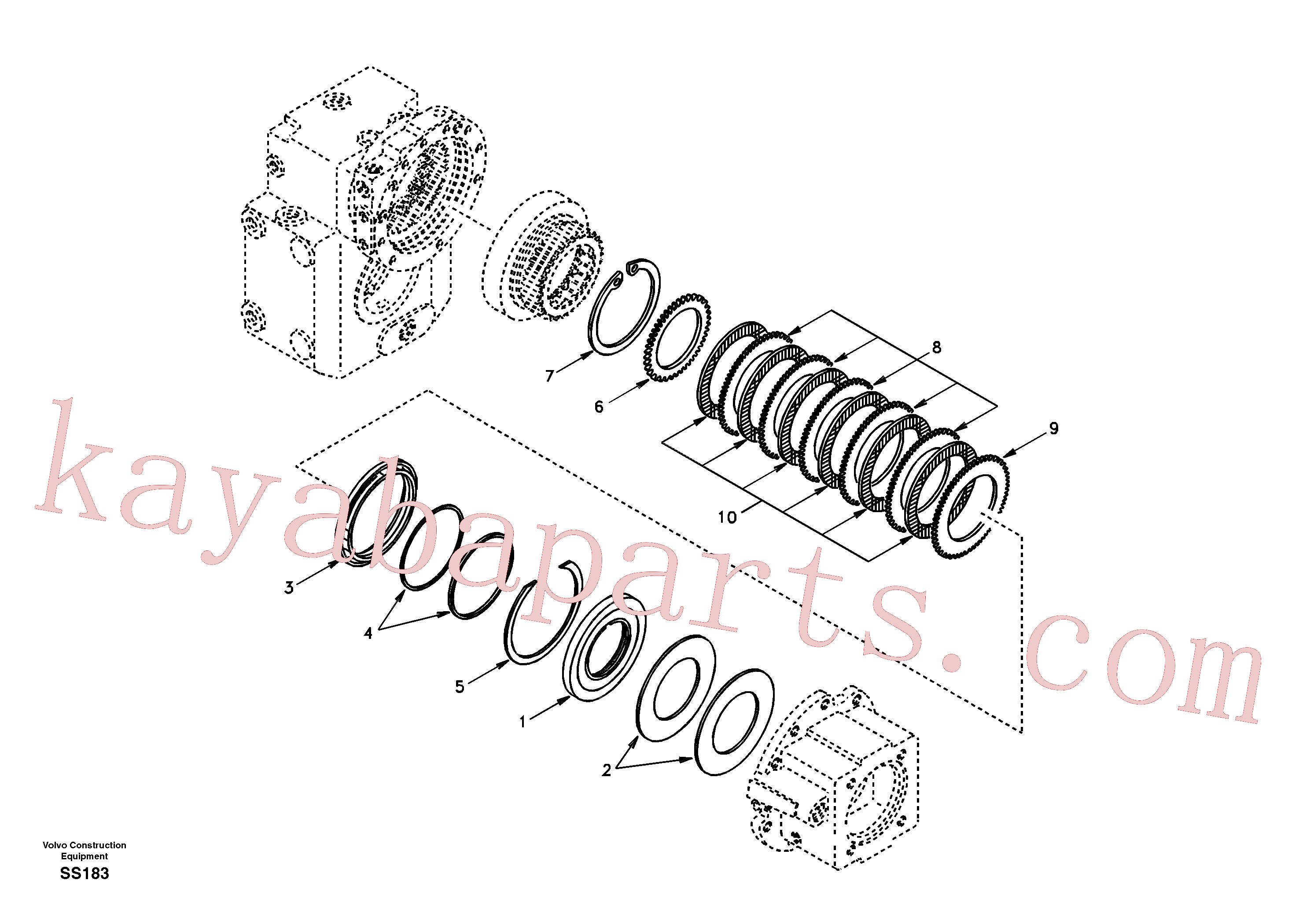 VOE11705185 for Volvo Disc brake(SS183 assembly)