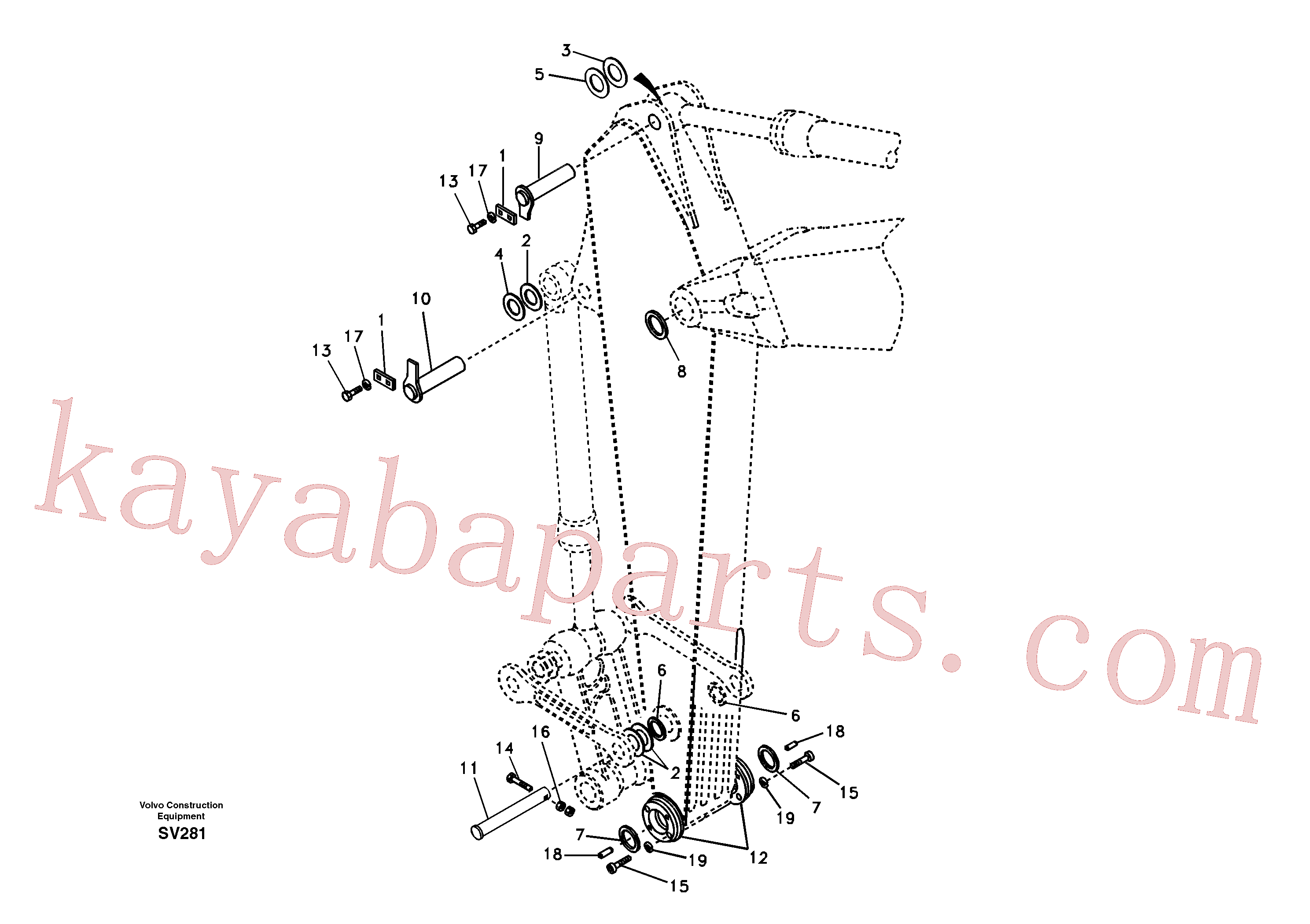 VOE14509292 for Volvo Links to dipper arm(SV281 assembly)