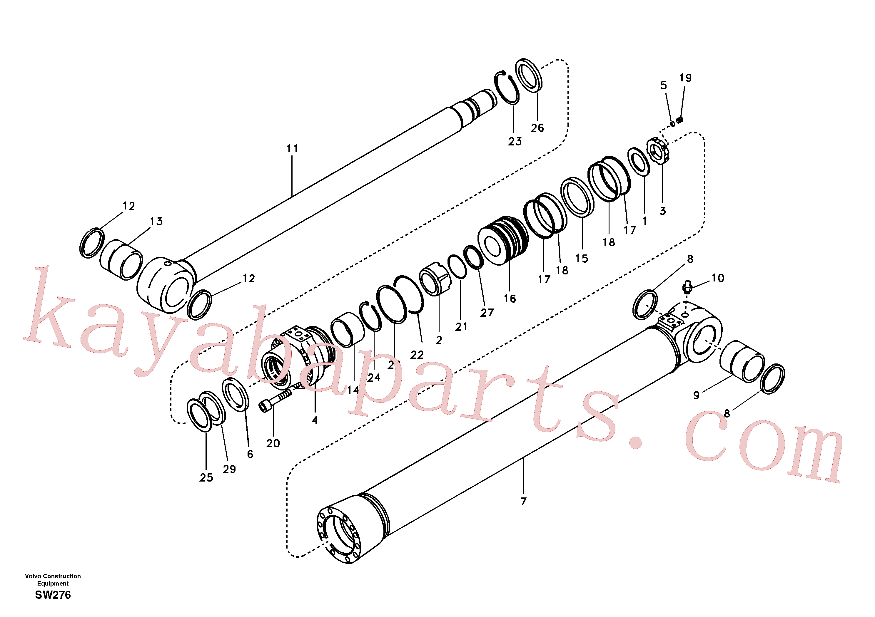 SA9612-10540 for Volvo Boom cylinder(SW276 assembly)
